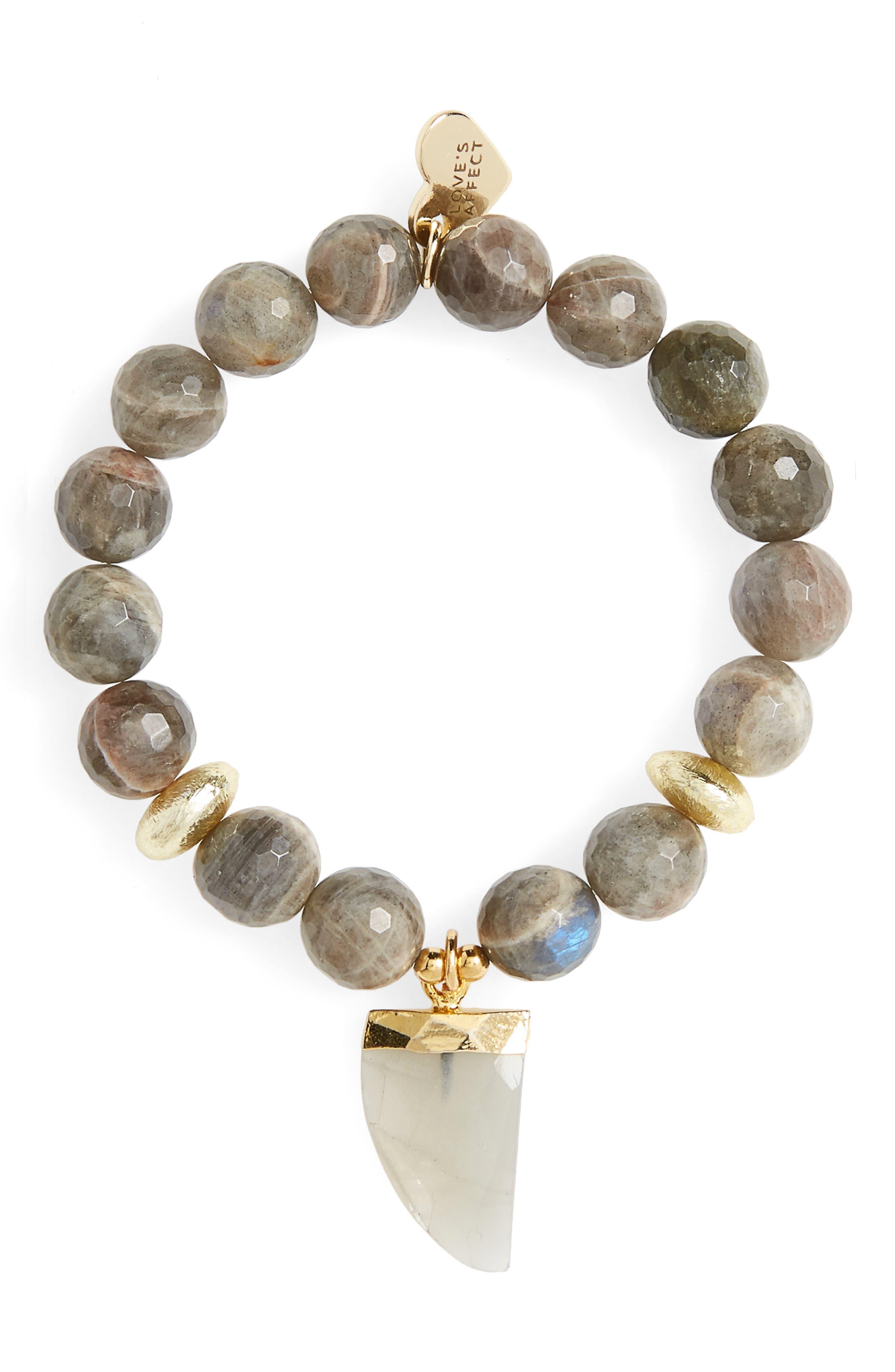 Love's Affect Asher Semiprecious Stretch Bracelet,                         Main,                         color,