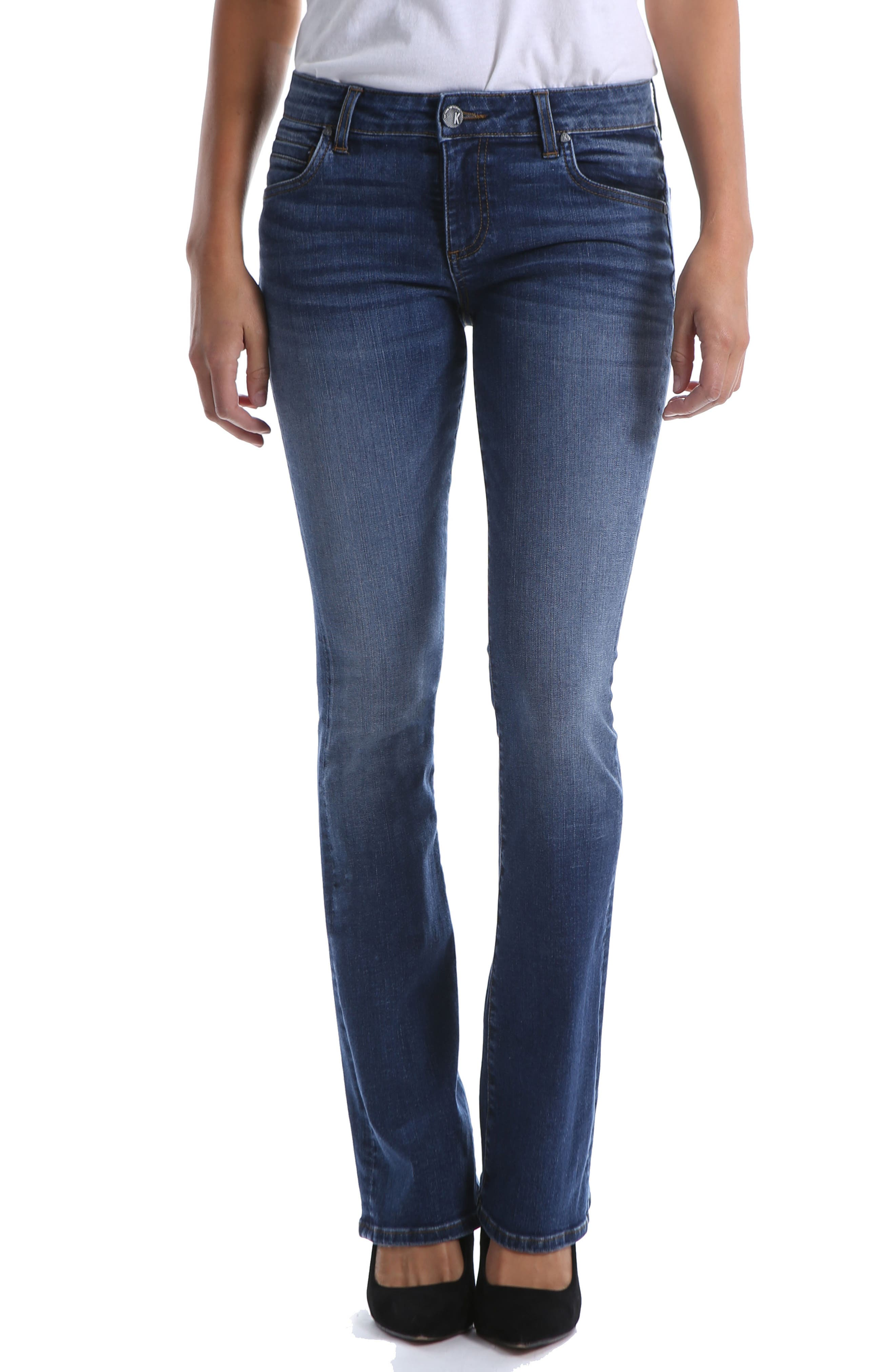 Kut From The Kloth Natalie Bootleg Jeans, Blue