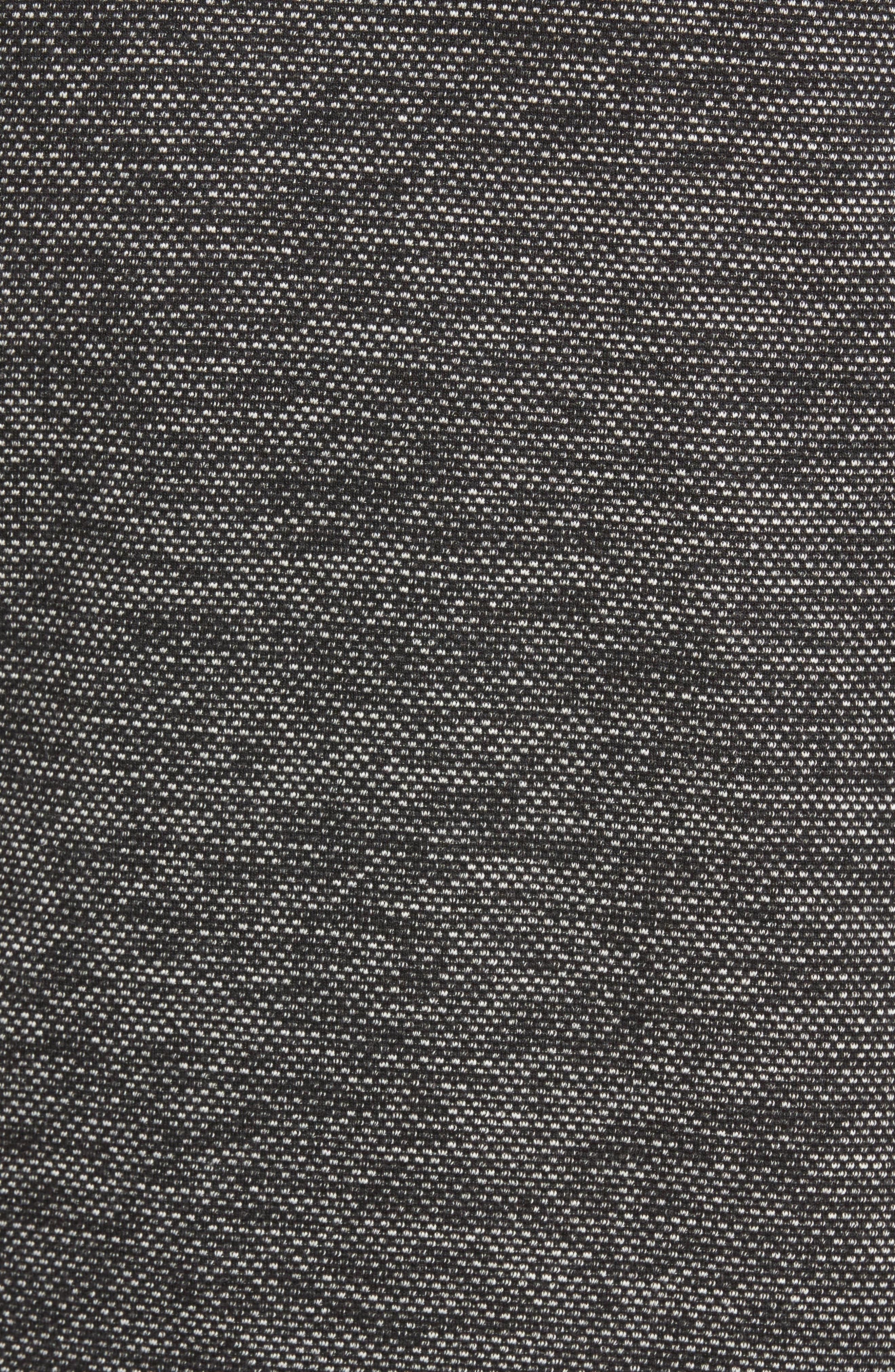Trim Fit Mélange Pullover,                             Alternate thumbnail 5, color,                             BLACK/WHITE
