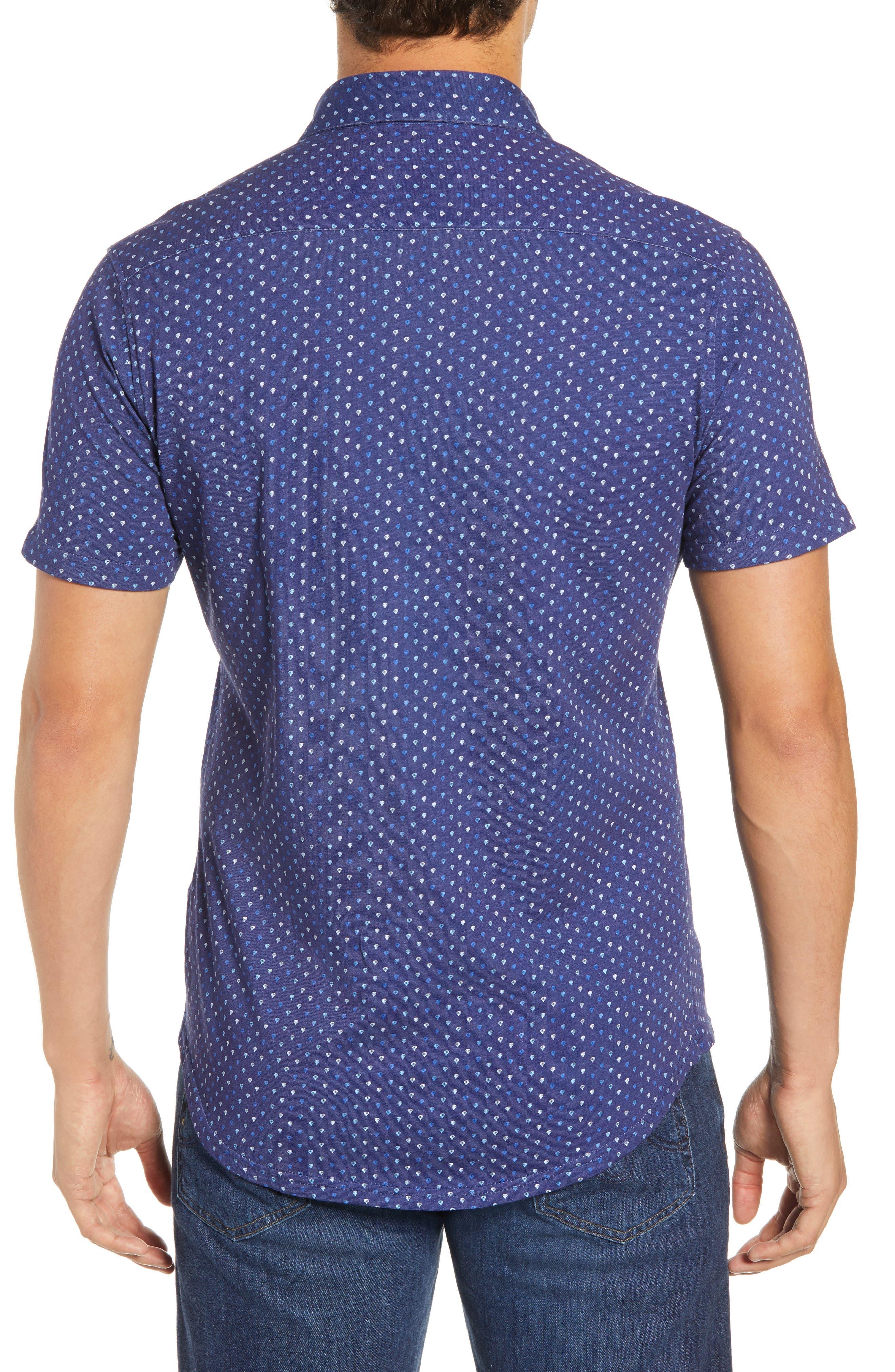Regular Fit Sport Shirt,                             Alternate thumbnail 3, color,                             NAVY
