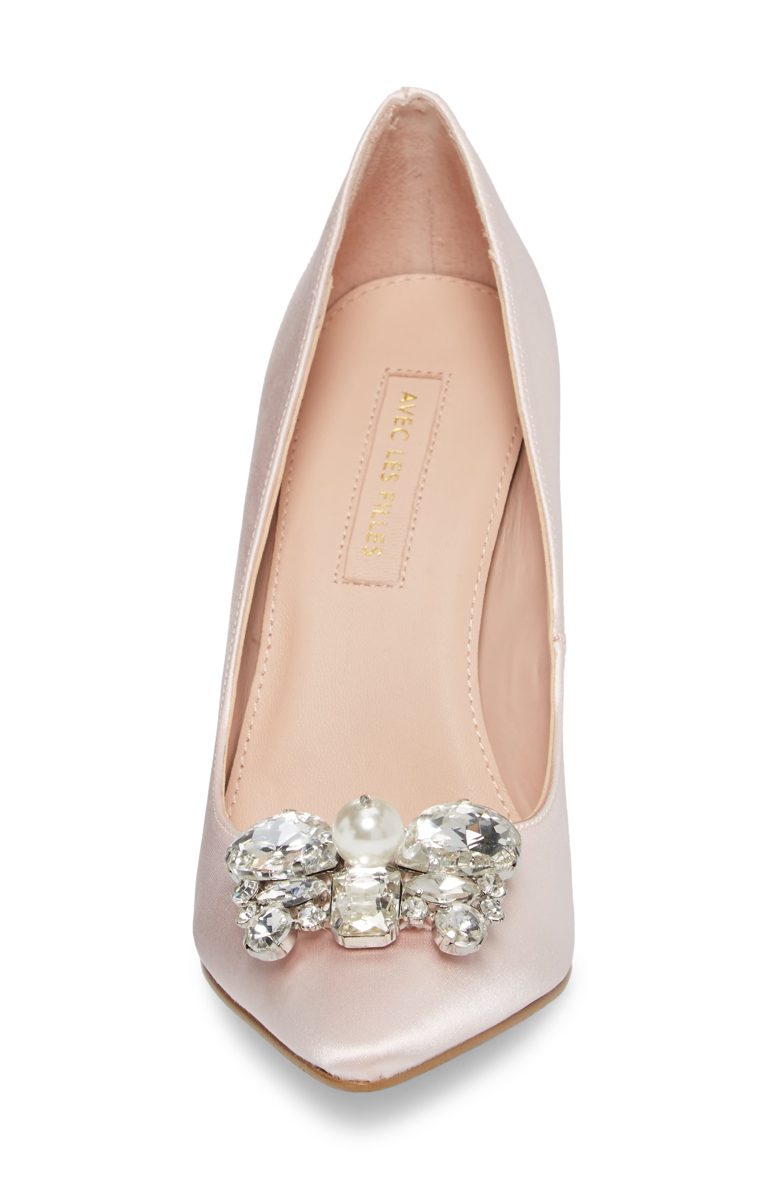 Chiara Embellished Pointy Toe Pump,                             Alternate thumbnail 8, color,