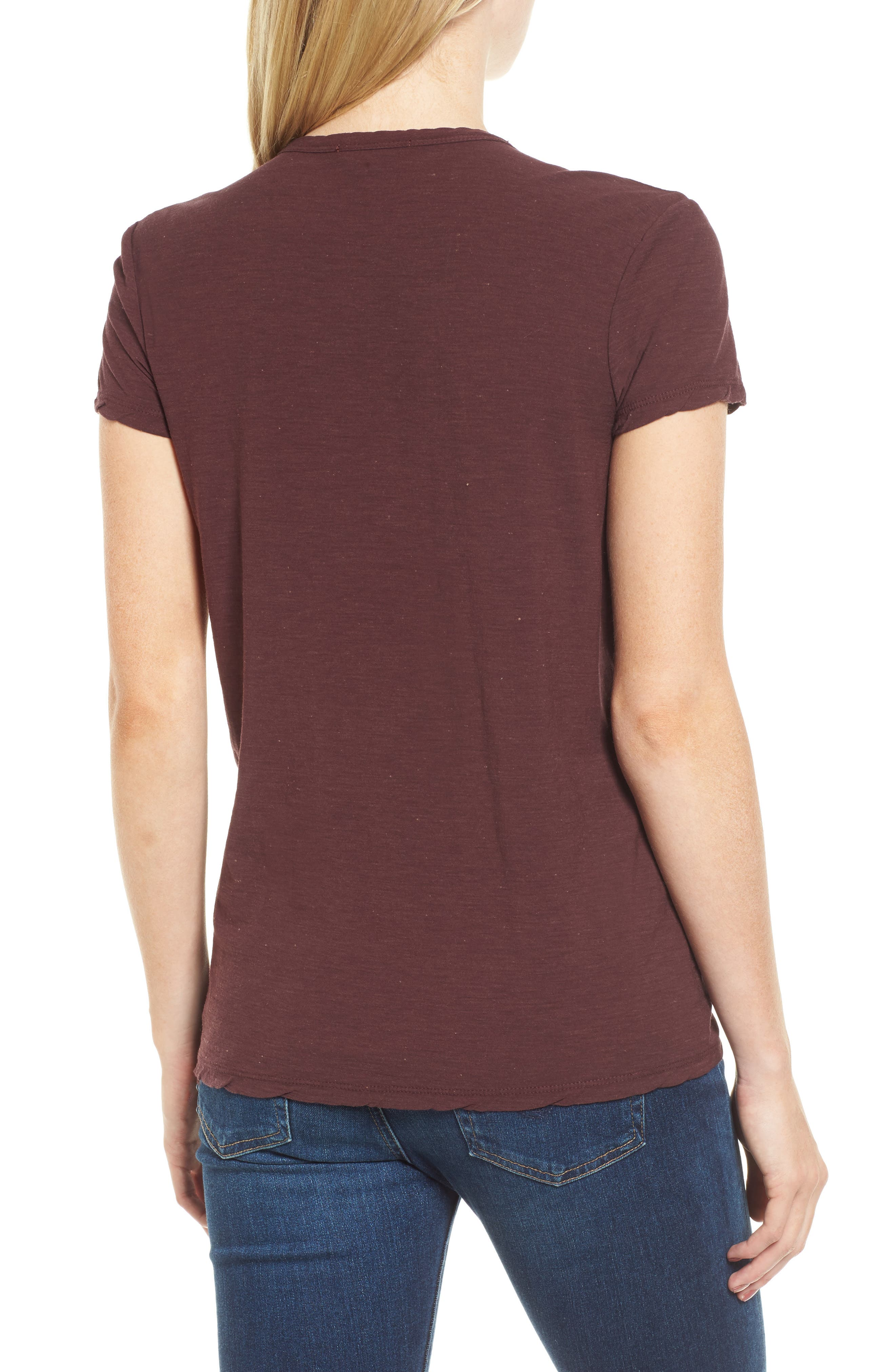Deep V-Neck Tee,                             Alternate thumbnail 6, color,