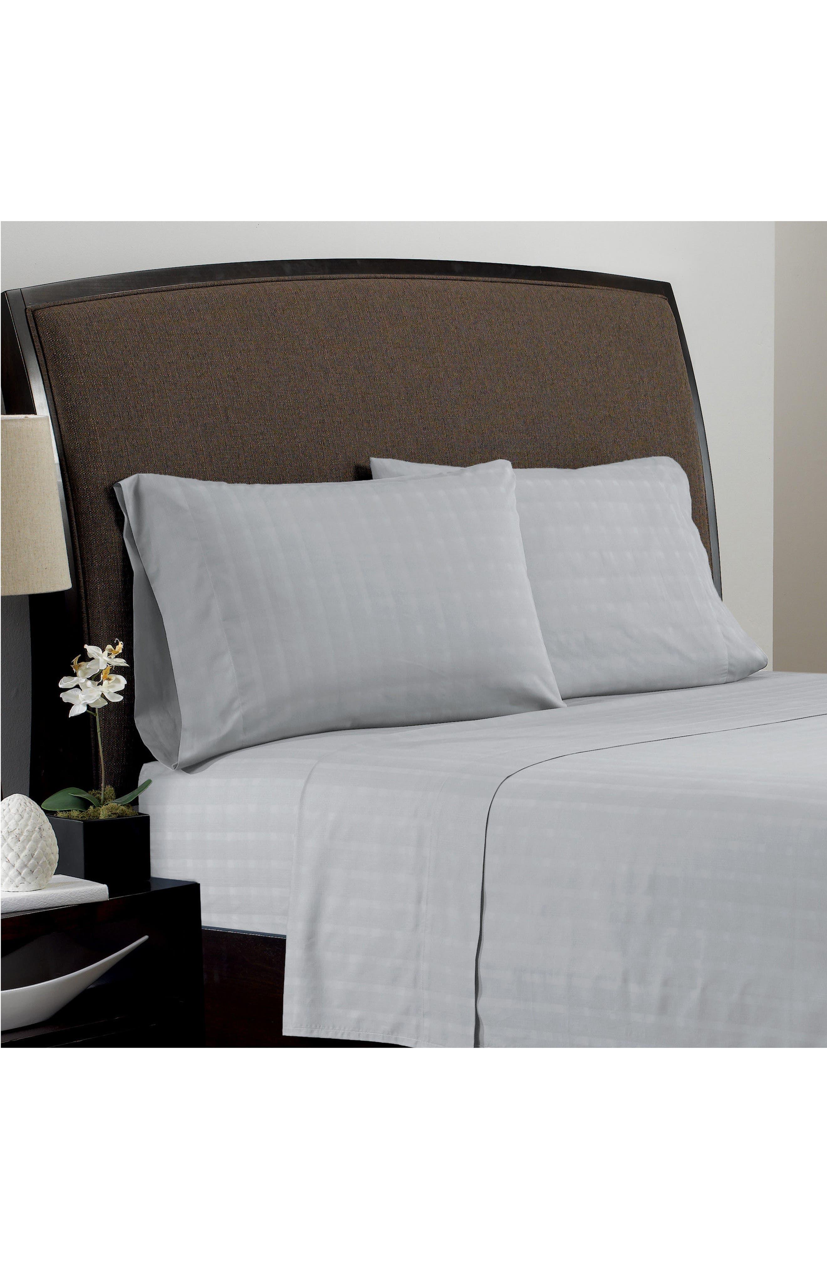 Dobby Plaid Pillowcases,                             Main thumbnail 1, color,                             020