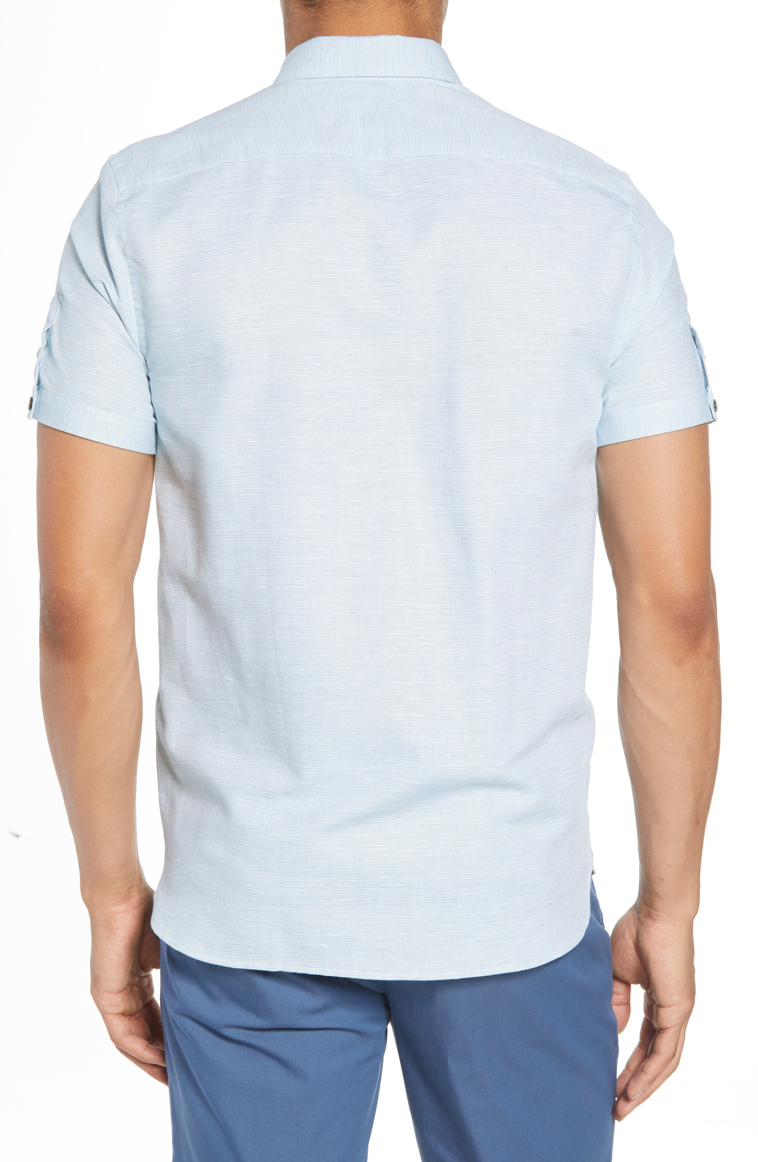 Slim Fit Sport Shirt,                             Alternate thumbnail 8, color,