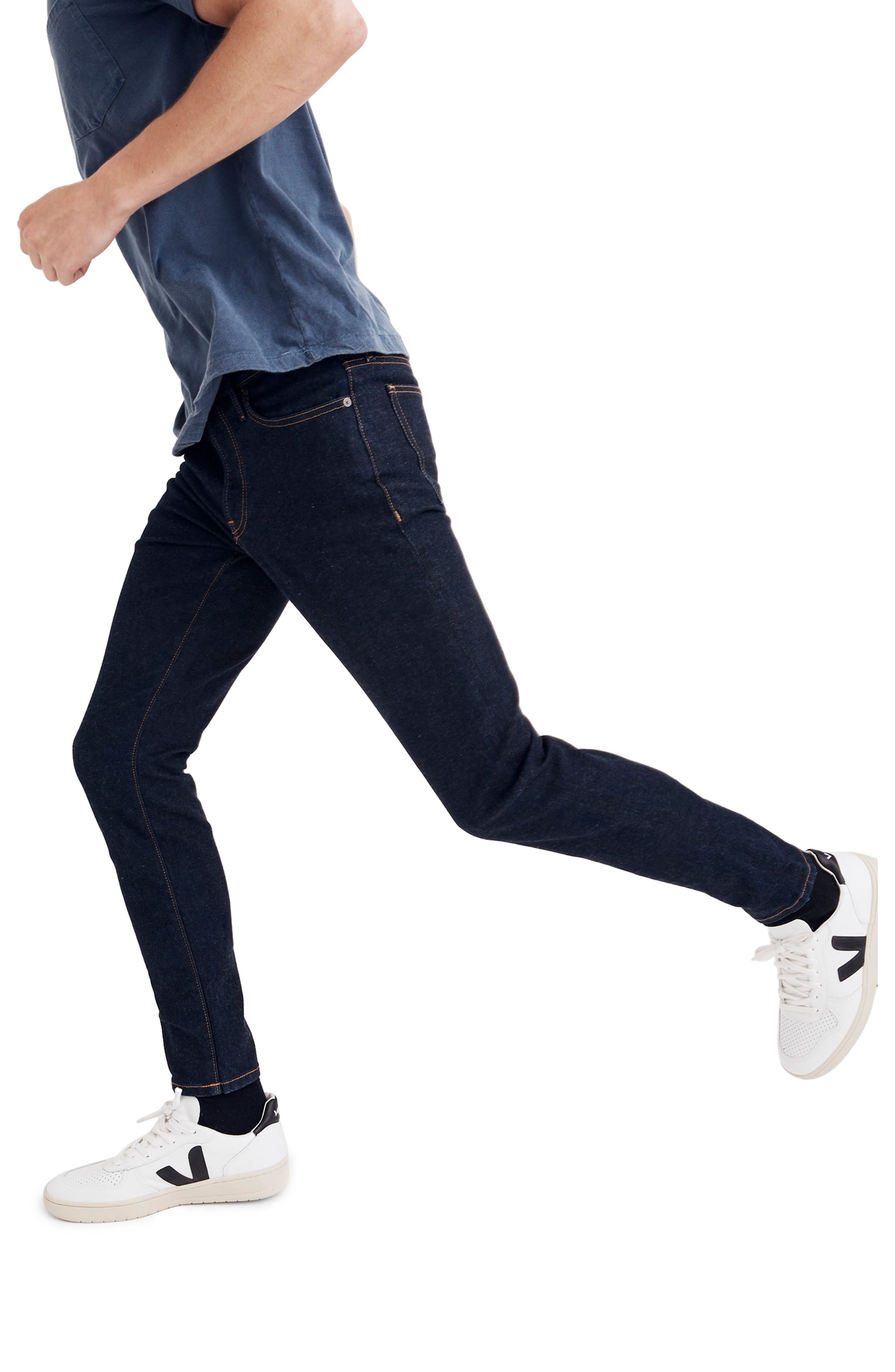 Skinny Fit Jeans,                             Alternate thumbnail 3, color,                             RINSE