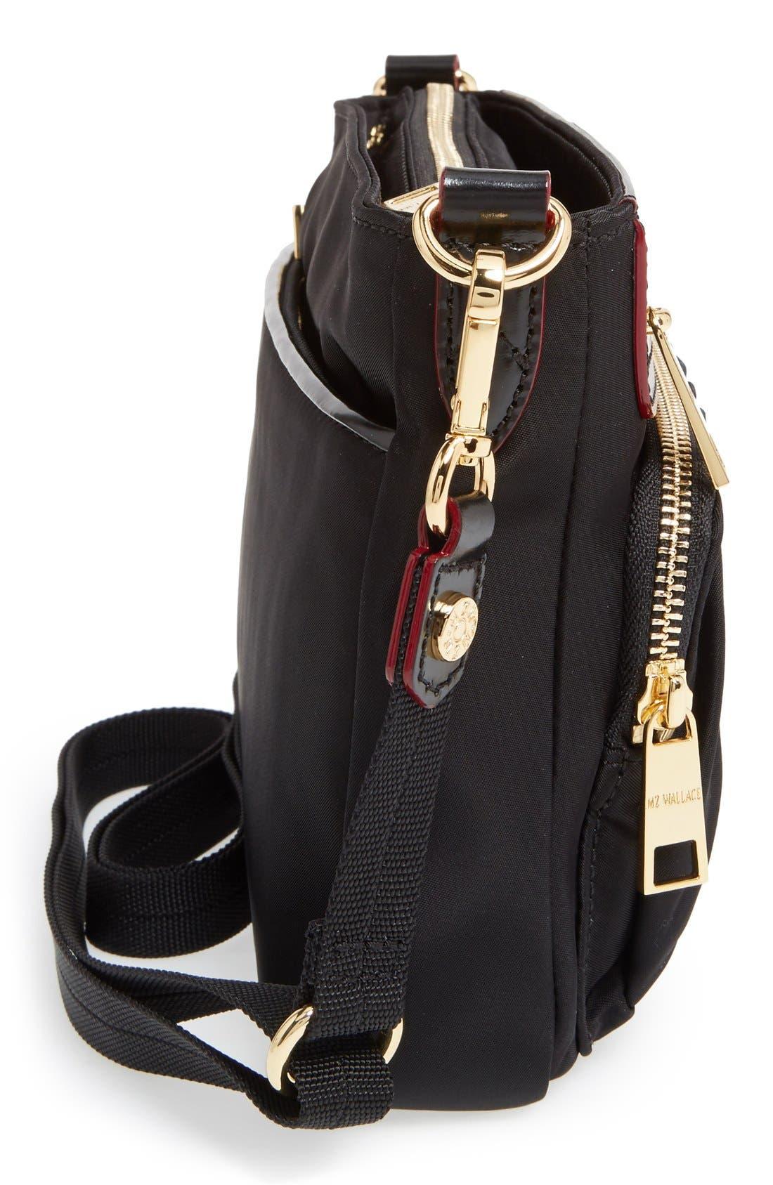Abbey Crossbody Bag,                             Alternate thumbnail 9, color,                             BLACK BEDFORD