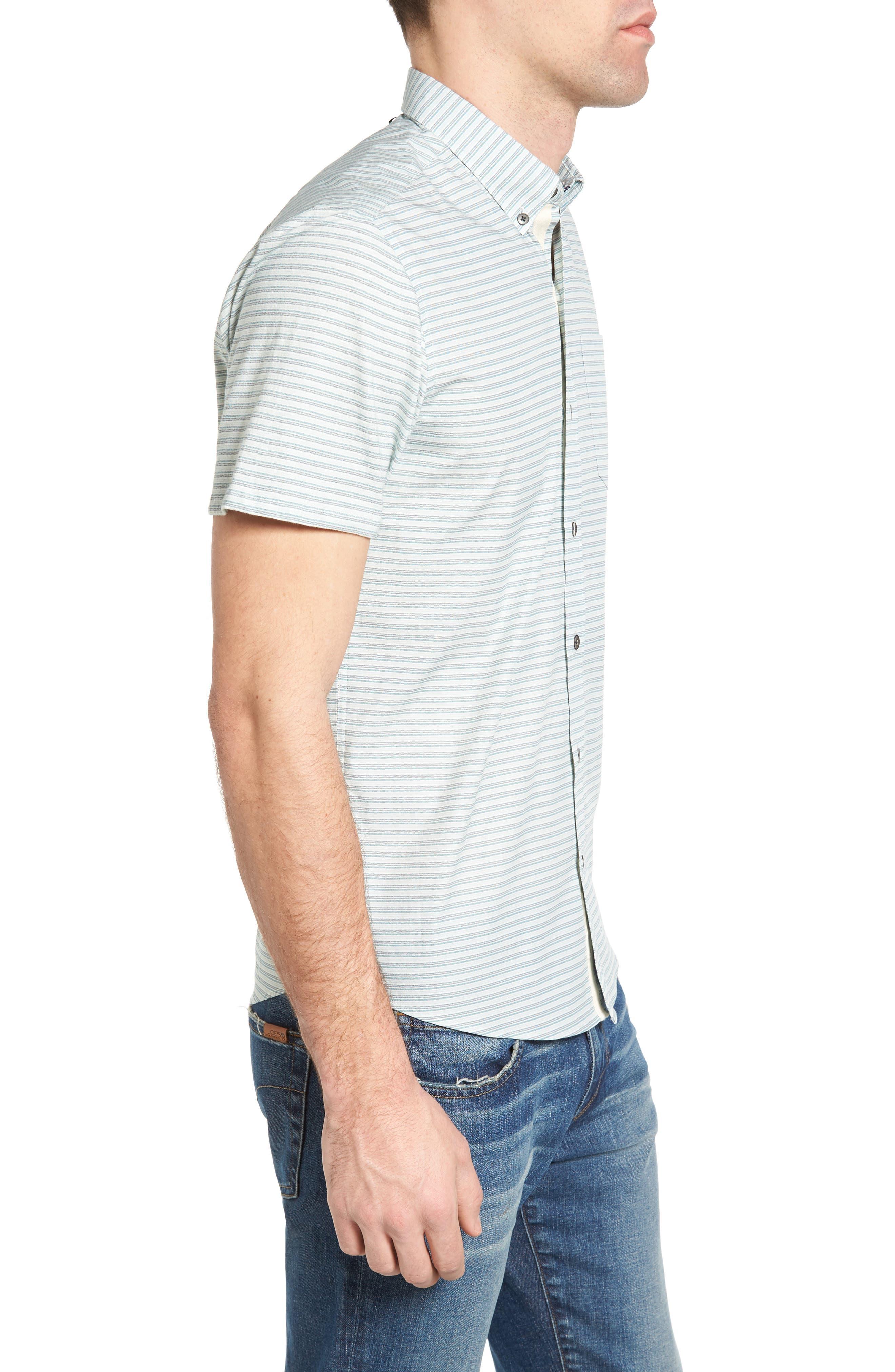 Reworked Mini Stripe Slim Fit Sport Shirt,                             Alternate thumbnail 3, color,                             104