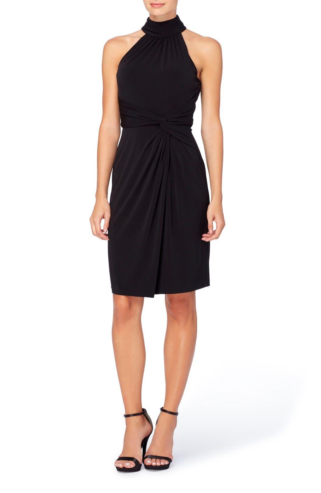 Jazz Halter Style Twist Front Dress,                         Main,                         color, 001