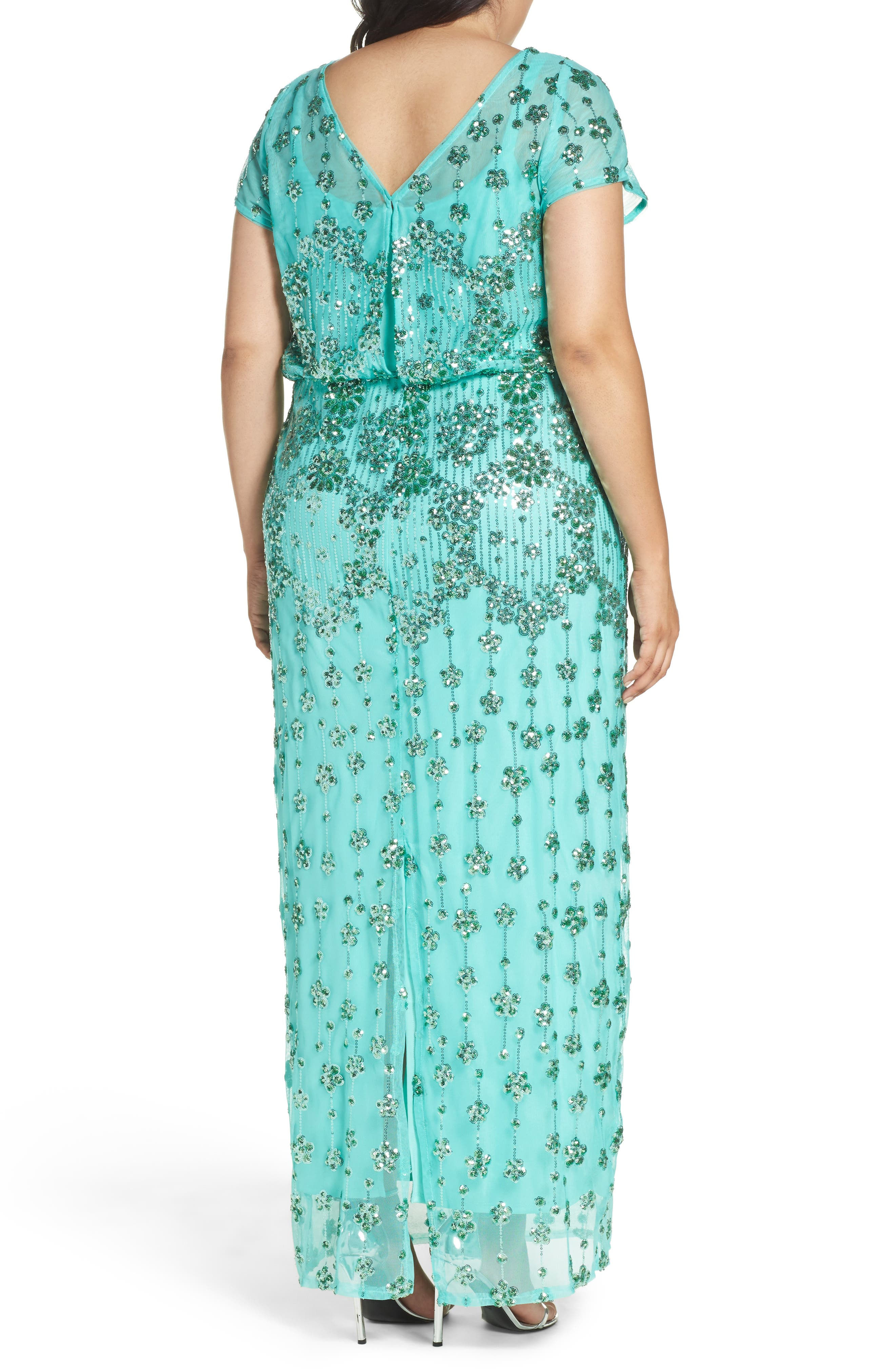 Embellished Blouson Gown,                             Alternate thumbnail 2, color,                             370
