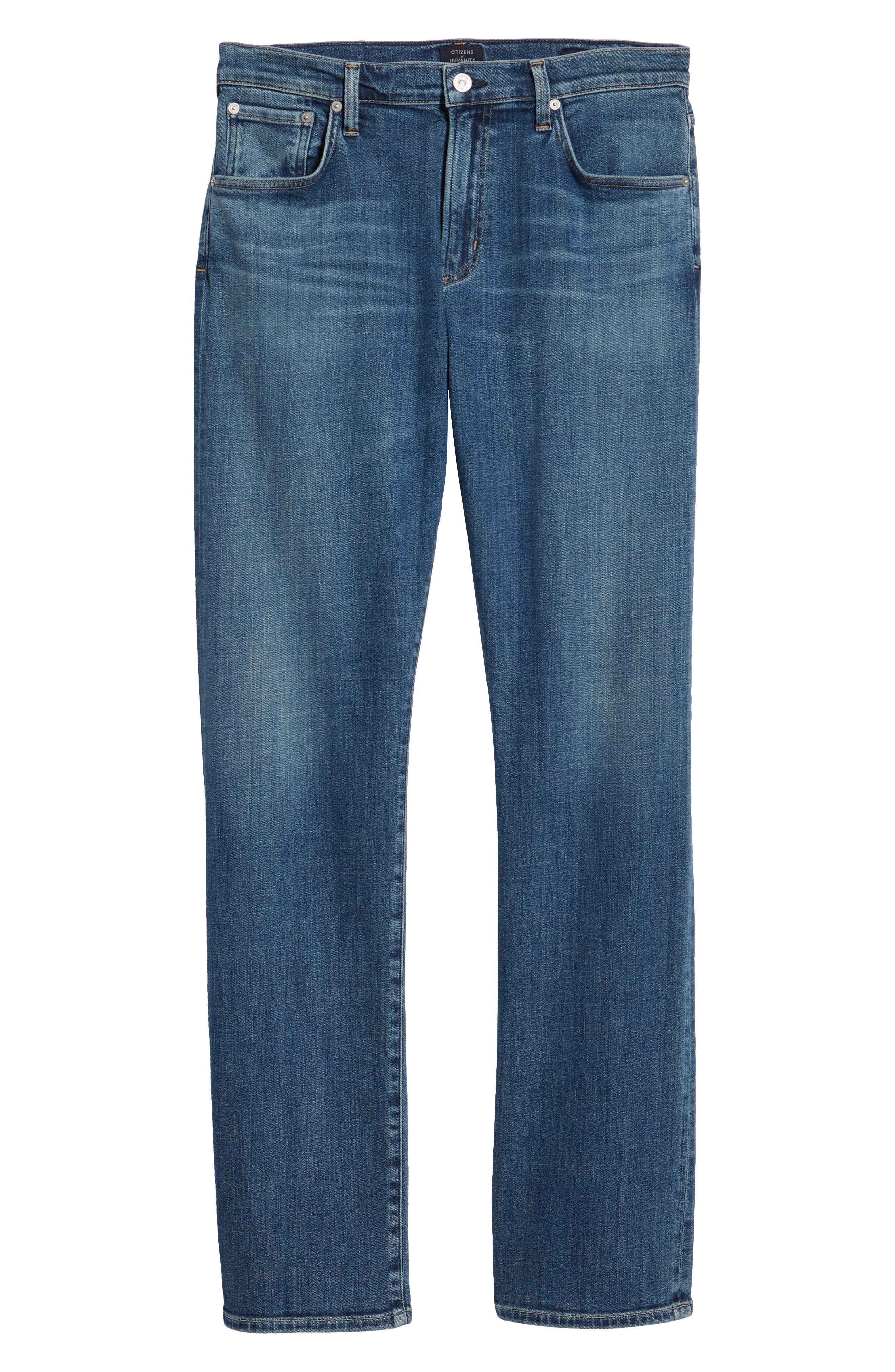 Sid Straight Leg Jeans,                             Alternate thumbnail 6, color,                             AURORA