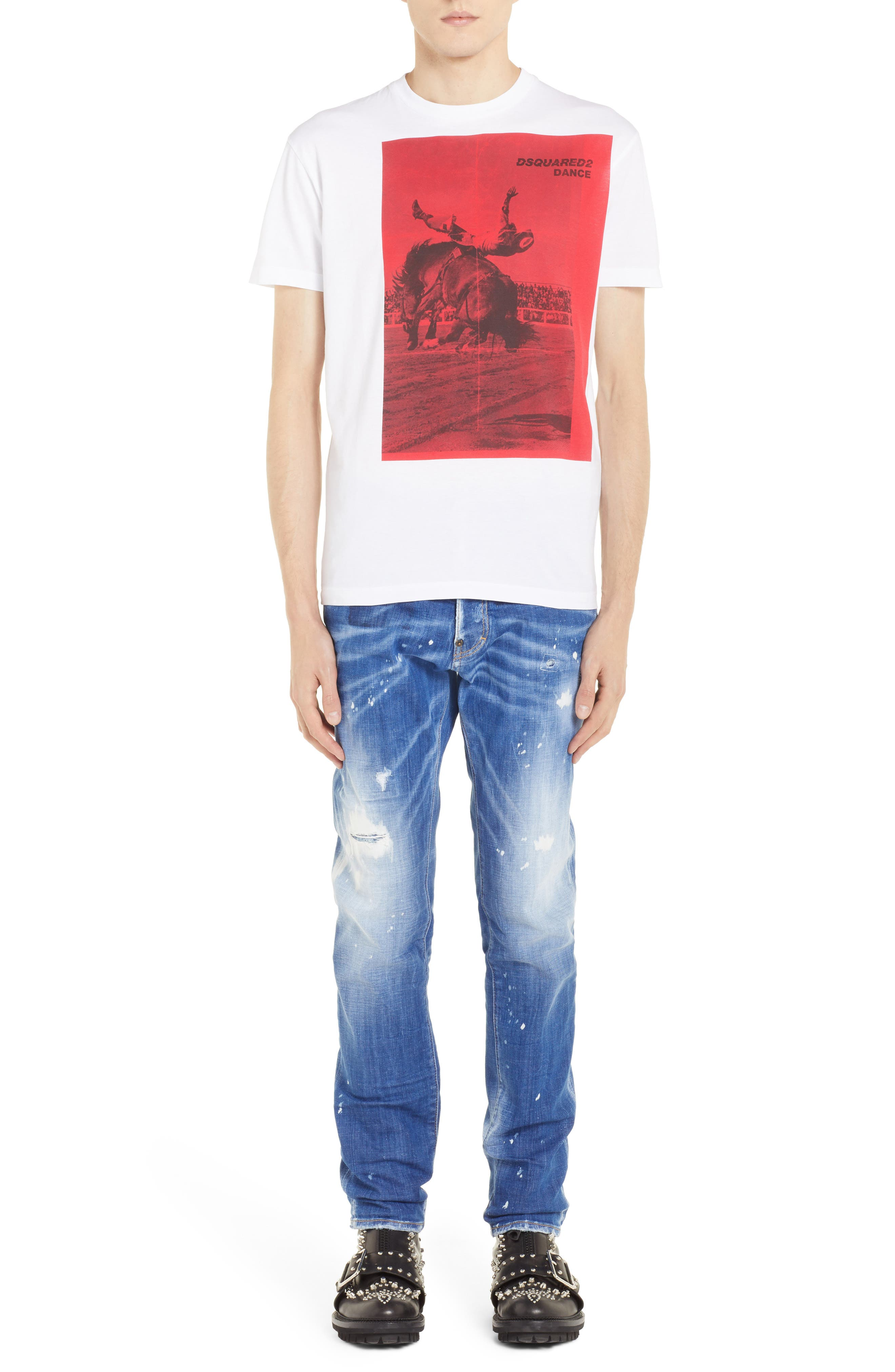 Rodeo Graphic T-Shirt,                             Alternate thumbnail 6, color,                             WHITE