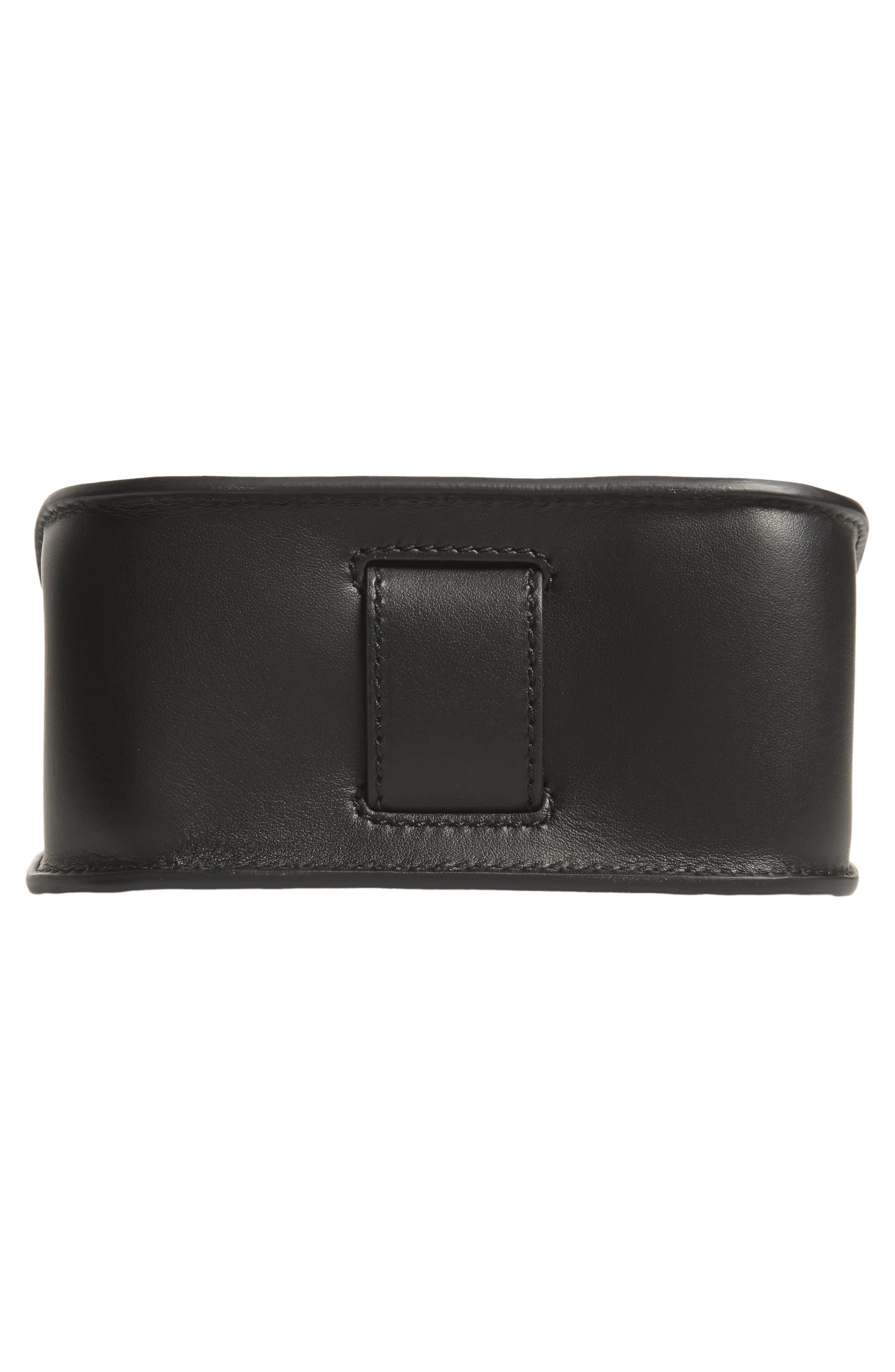 PS11 Box Leather Crossbody Bag,                             Alternate thumbnail 6, color,                             BLACK