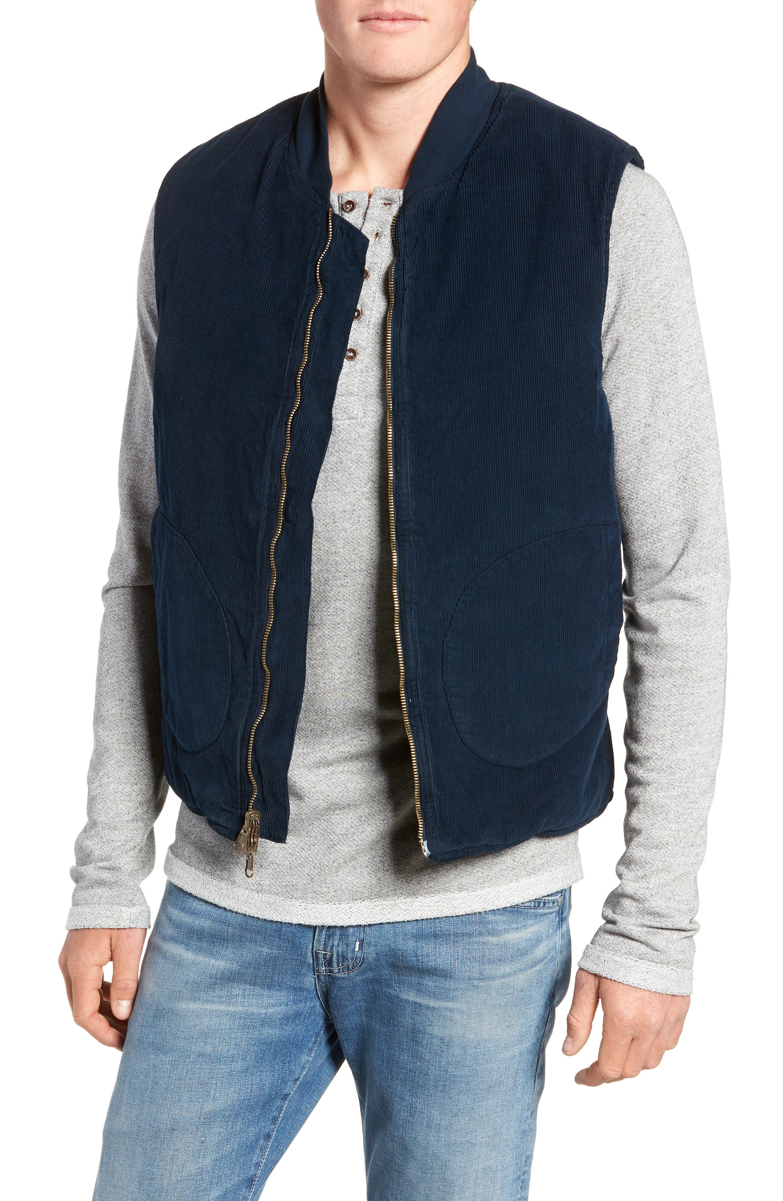 M.SINGER Regular Fit Reversible Miner's Vest, Main, color, 400
