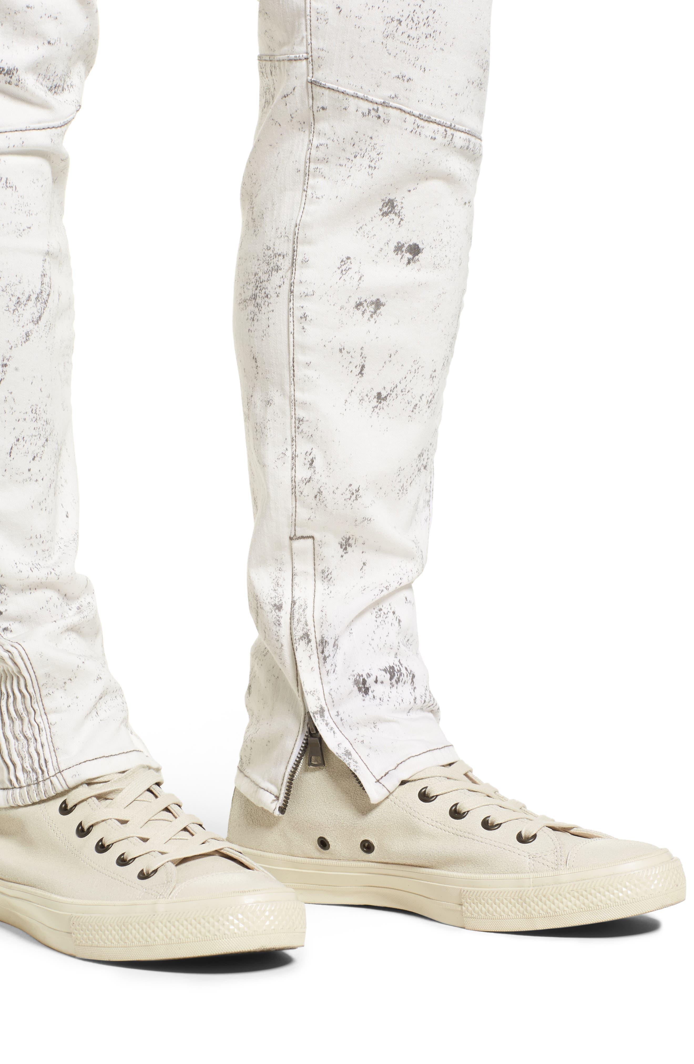 True Religion Racer Skinny Fit Jeans,                             Alternate thumbnail 4, color,                             BLACK SAND