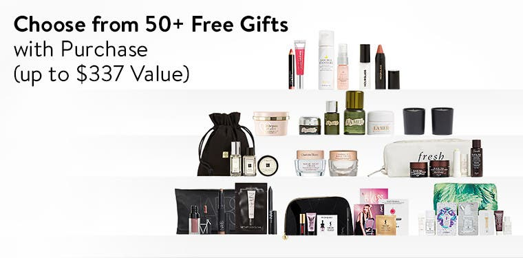 Over 50 gifts with purchase.