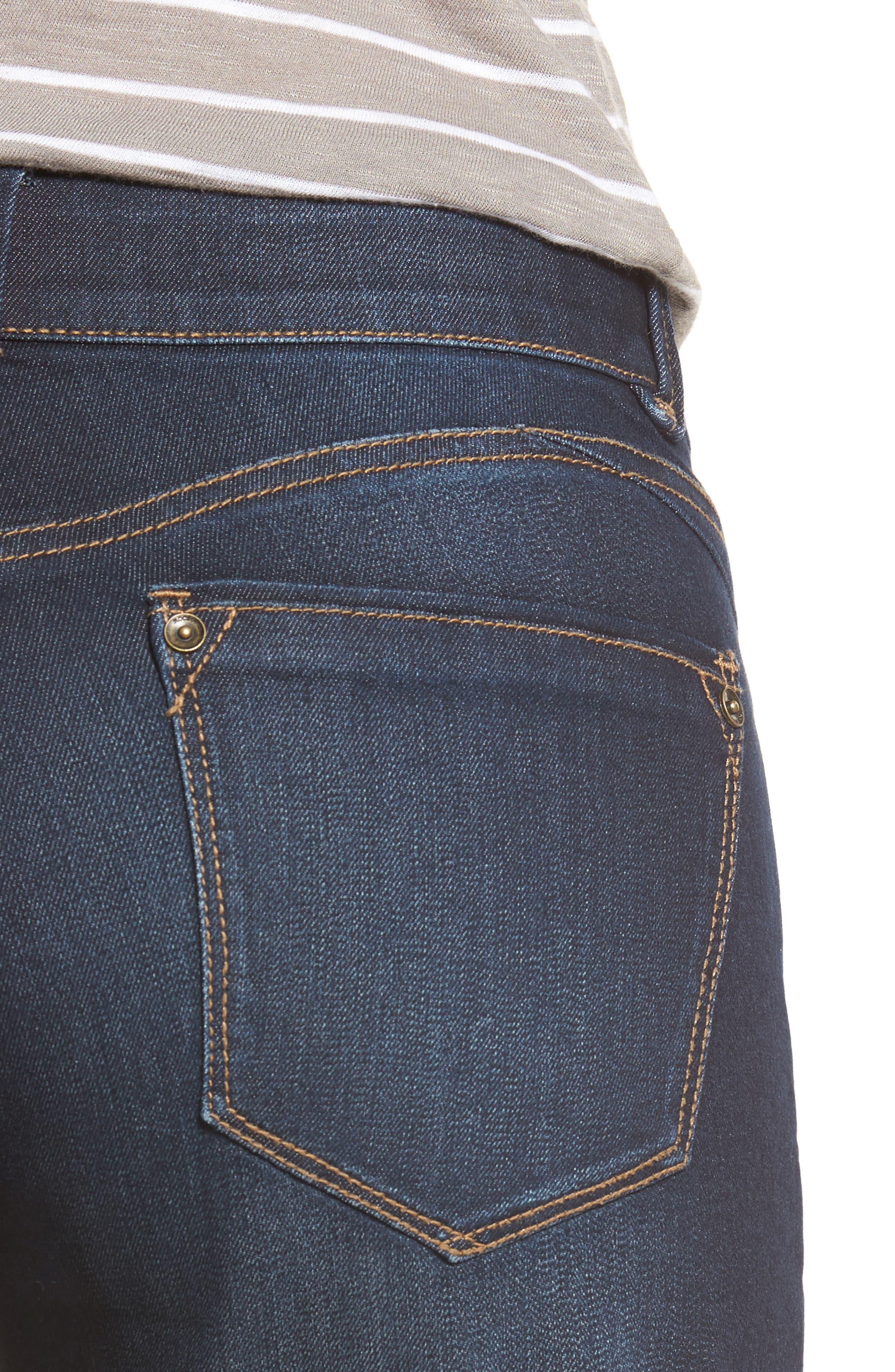 Ab-solution Cuffed Denim Shorts,                             Alternate thumbnail 4, color,                             402