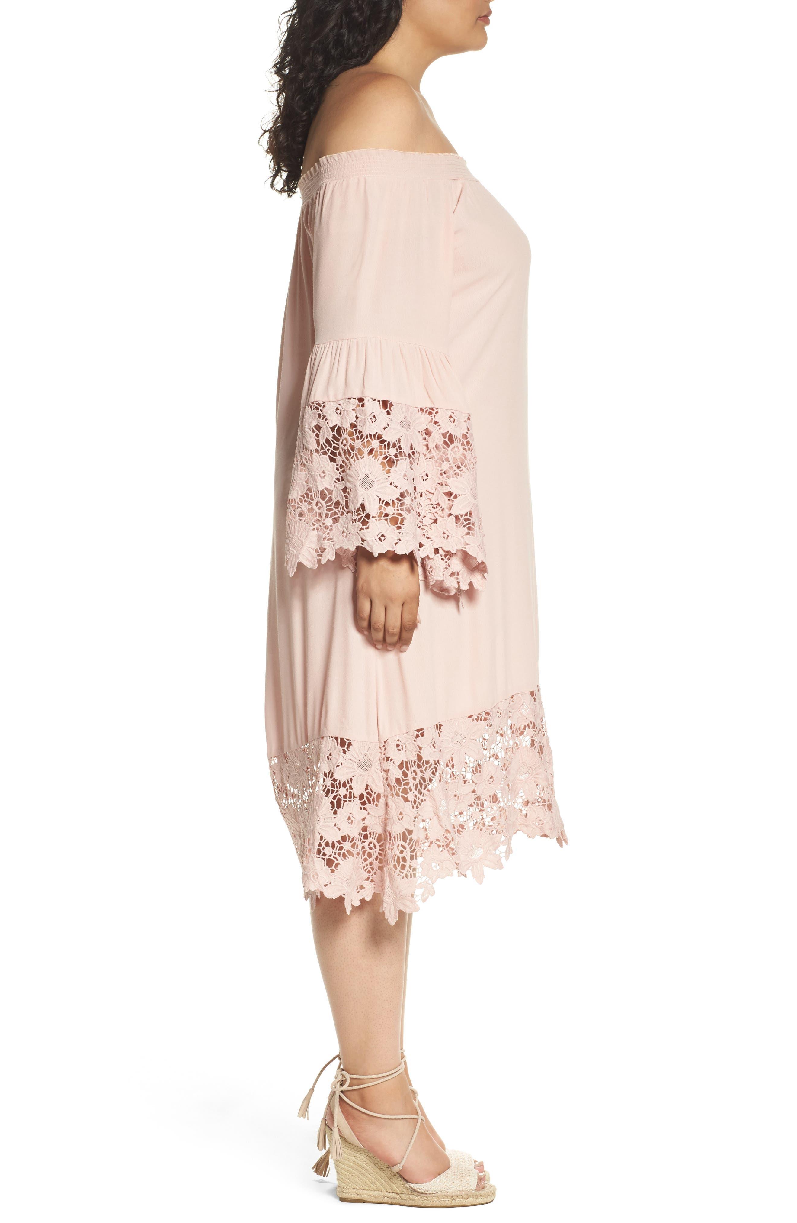 Jolie Lace Accent Cover-Up Dress,                             Alternate thumbnail 6, color,
