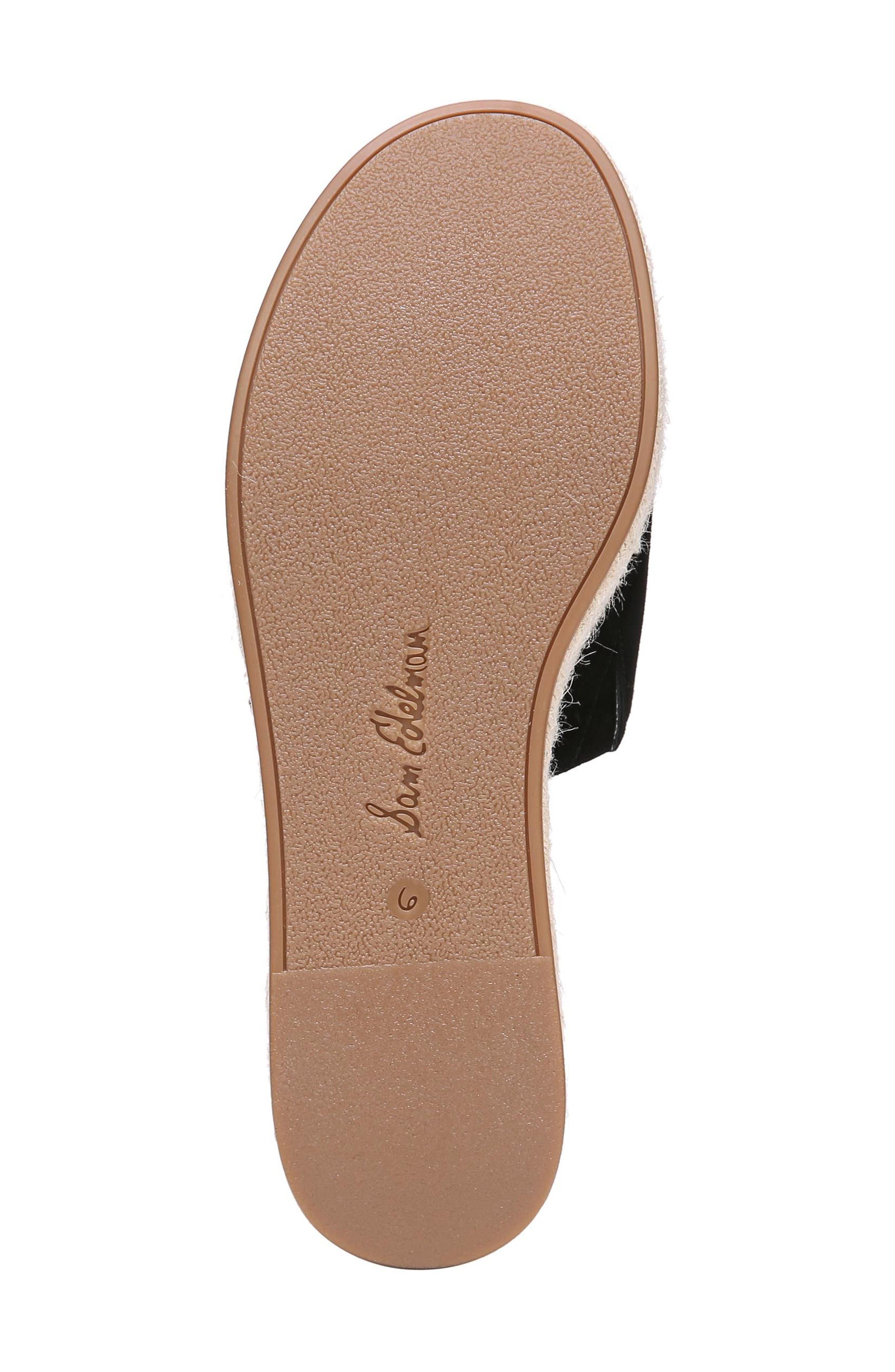 Weslee Platform Slide Sandal,                             Alternate thumbnail 6, color,                             BLACK SUEDE