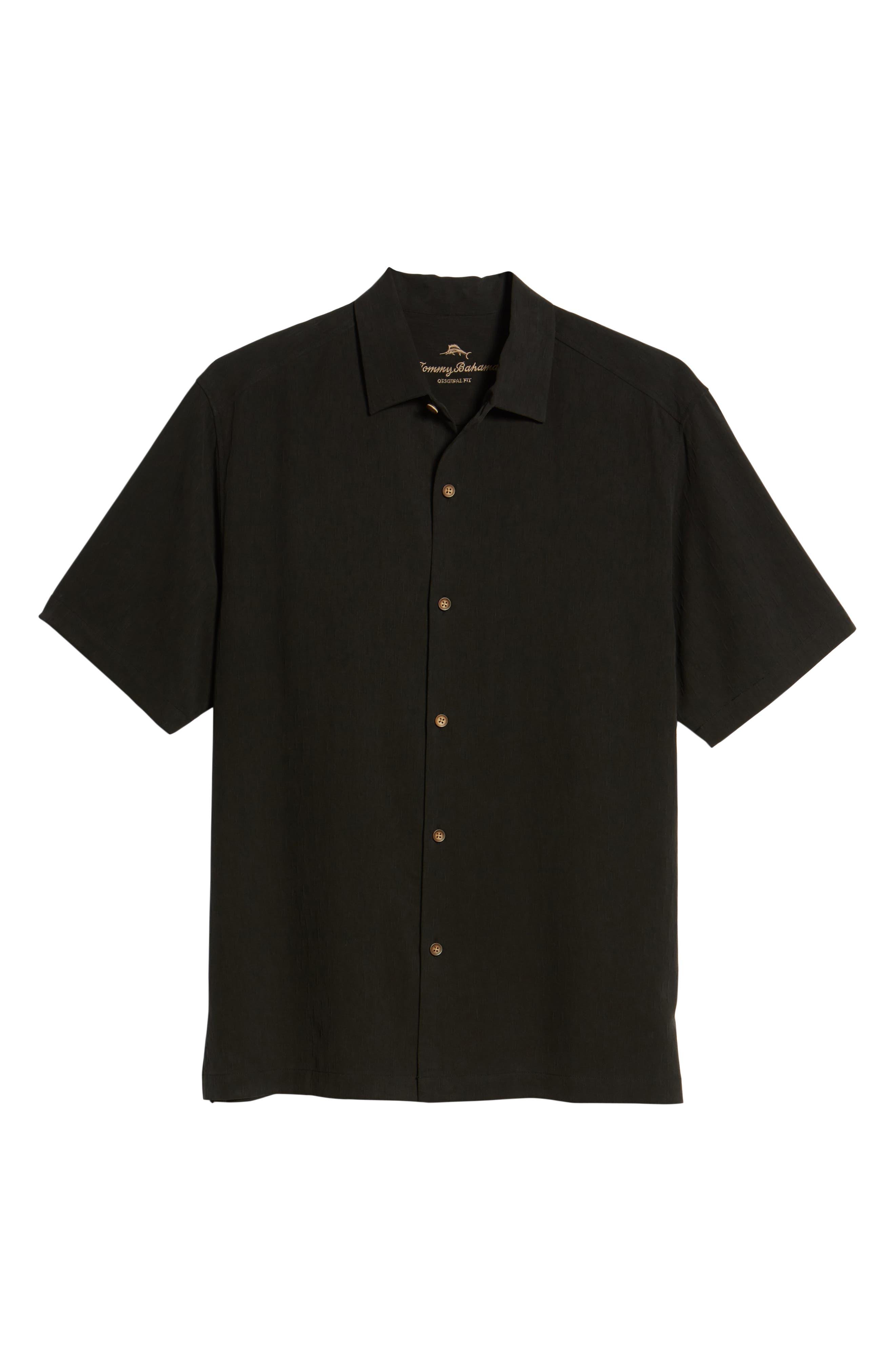 Bahama Reserve Silk Camp Shirt,                             Alternate thumbnail 6, color,                             001