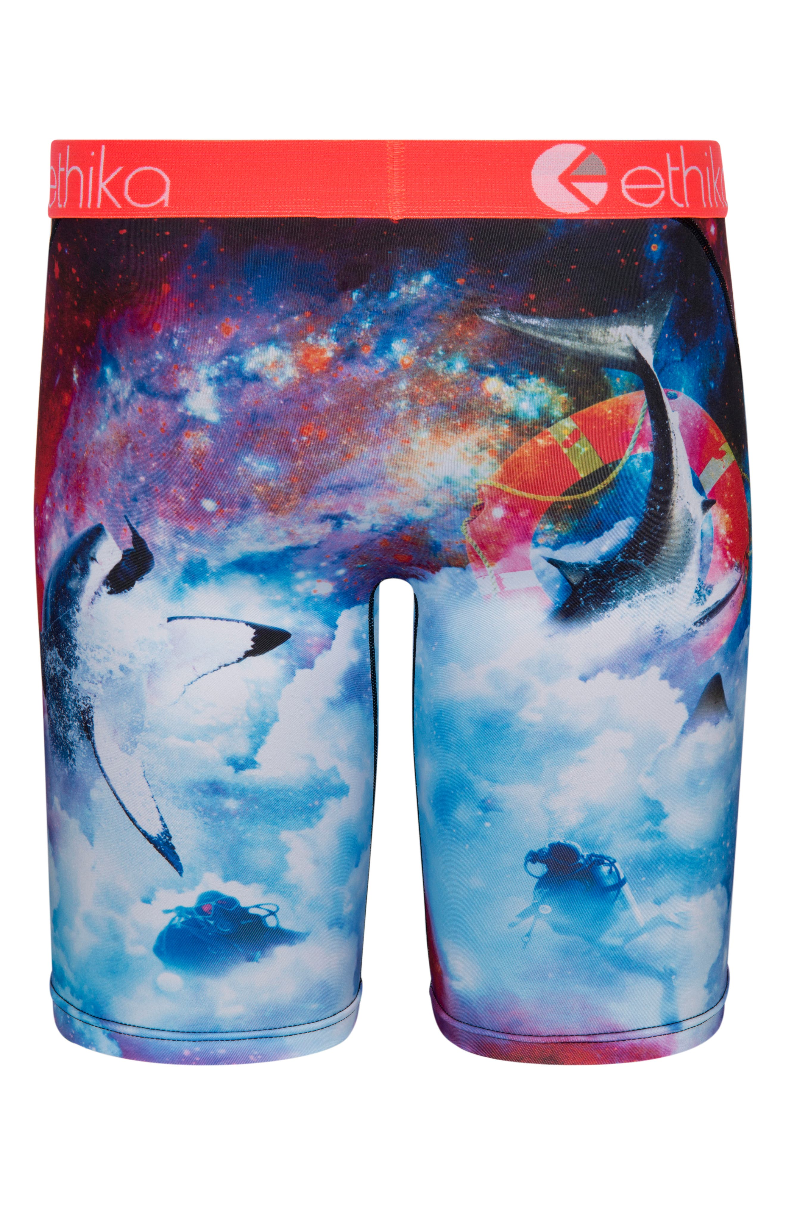 Space Sharks Stretch Boxer Briefs,                             Alternate thumbnail 2, color,