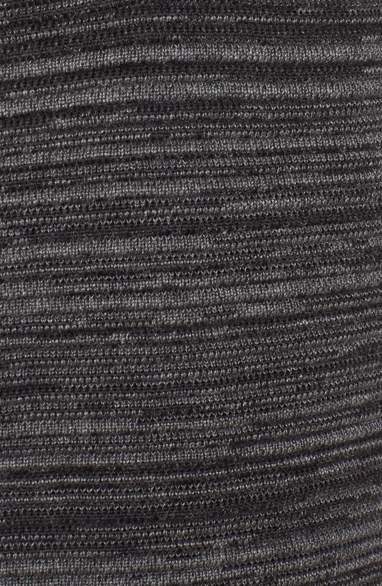 Tencel<sup>®</sup> Lyocell & Organic Cotton Cardigan,                             Alternate thumbnail 5, color,                             001