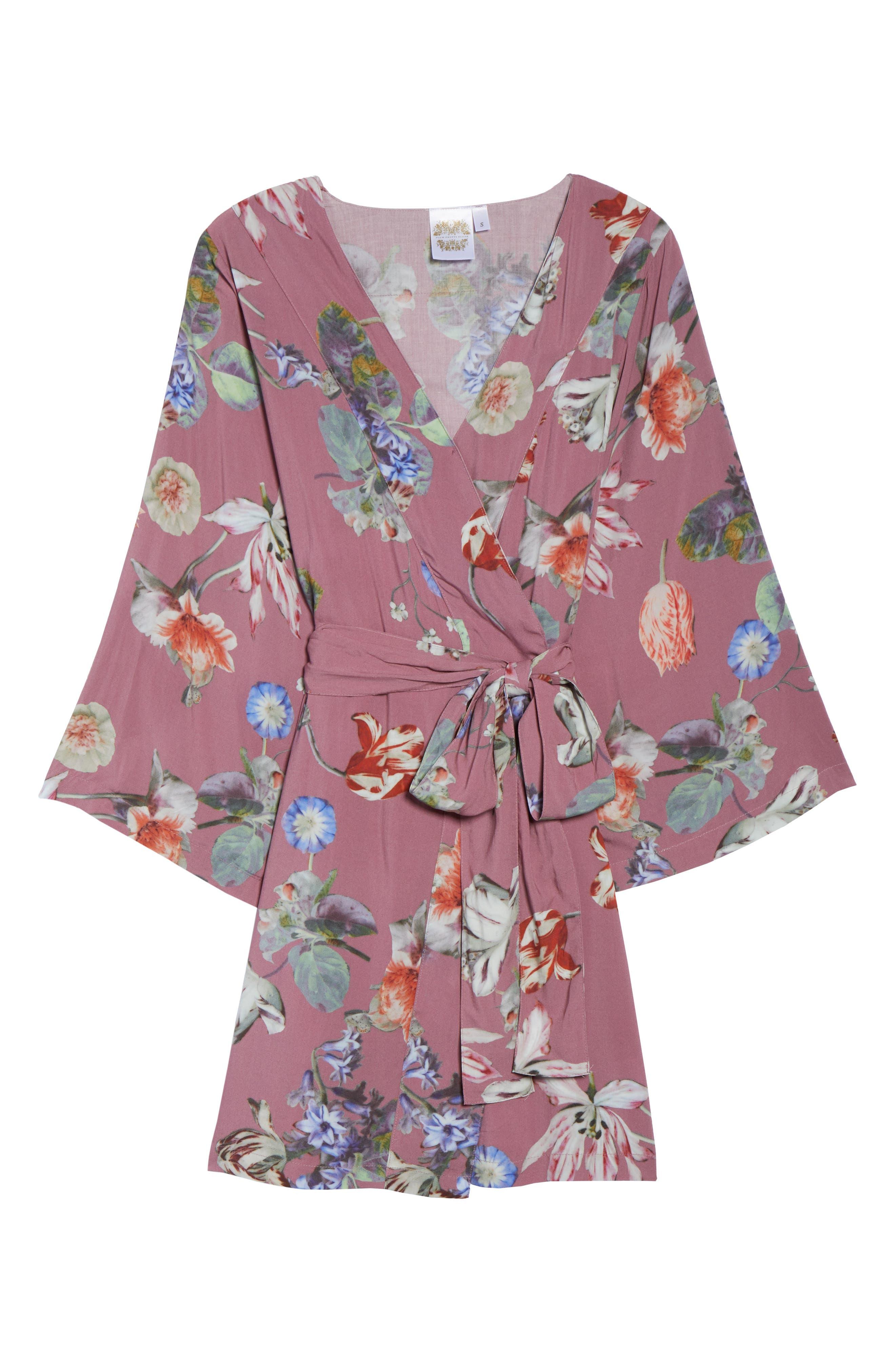 Pretty Plum Sugar Knee-Length Robe,                             Alternate thumbnail 11, color,