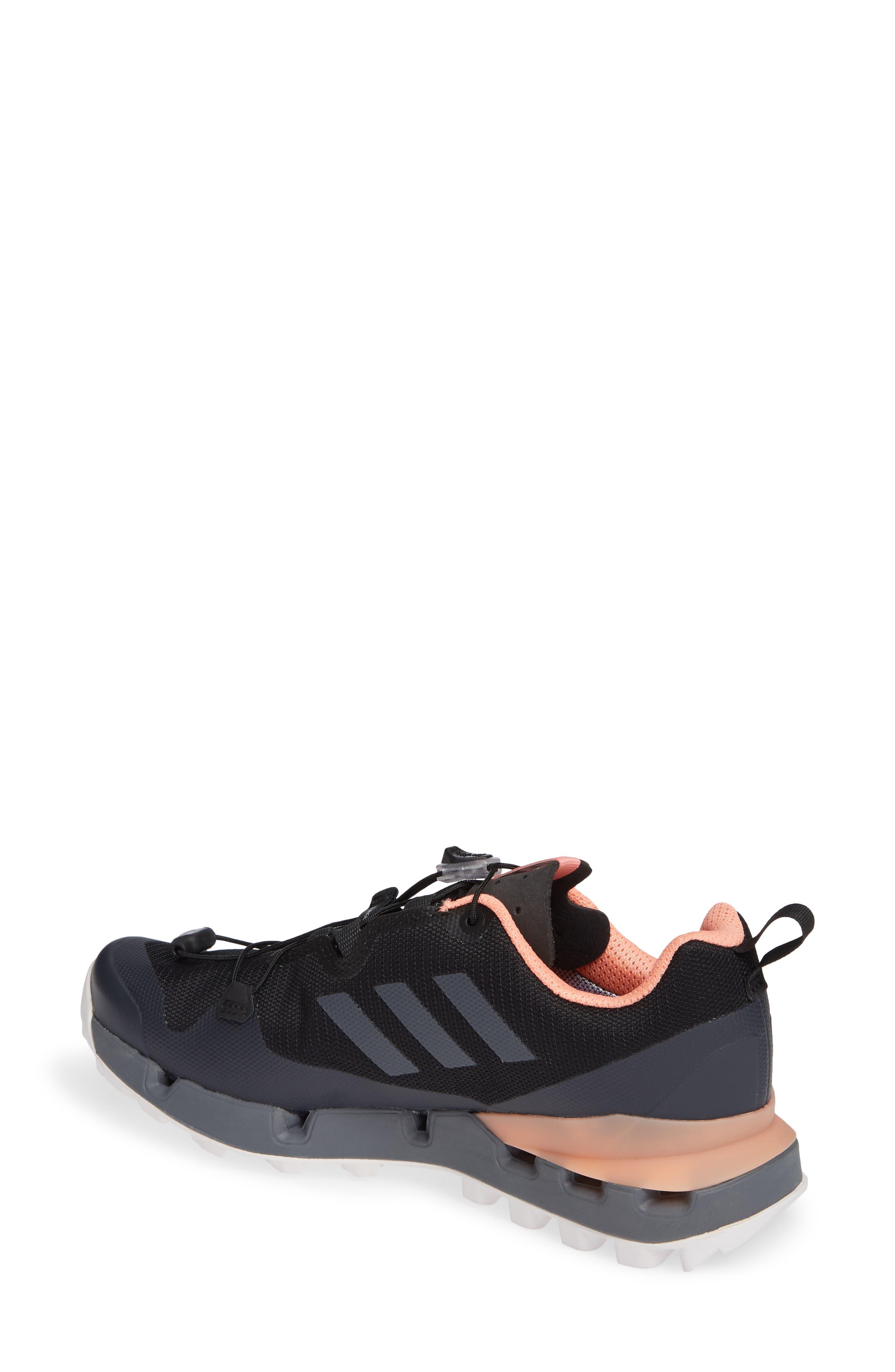 Terrex Fast GTX<sup>®</sup> Surround Hiking Shoe,                             Alternate thumbnail 2, color,                             BLACK/ GREY FIVE/ CHALK CORAL