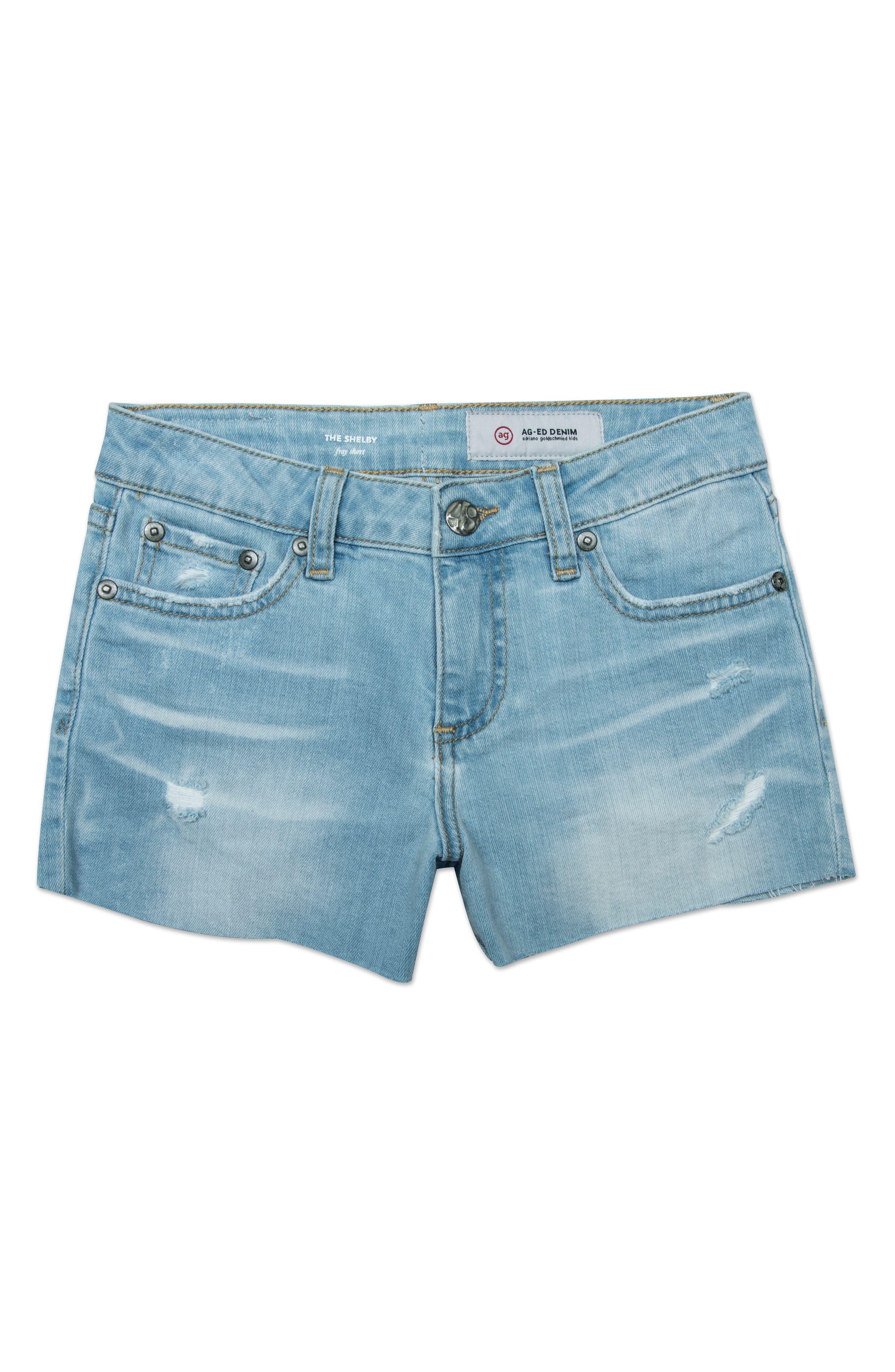 The Shelby Cutoff Shorts,                         Main,                         color, SKY