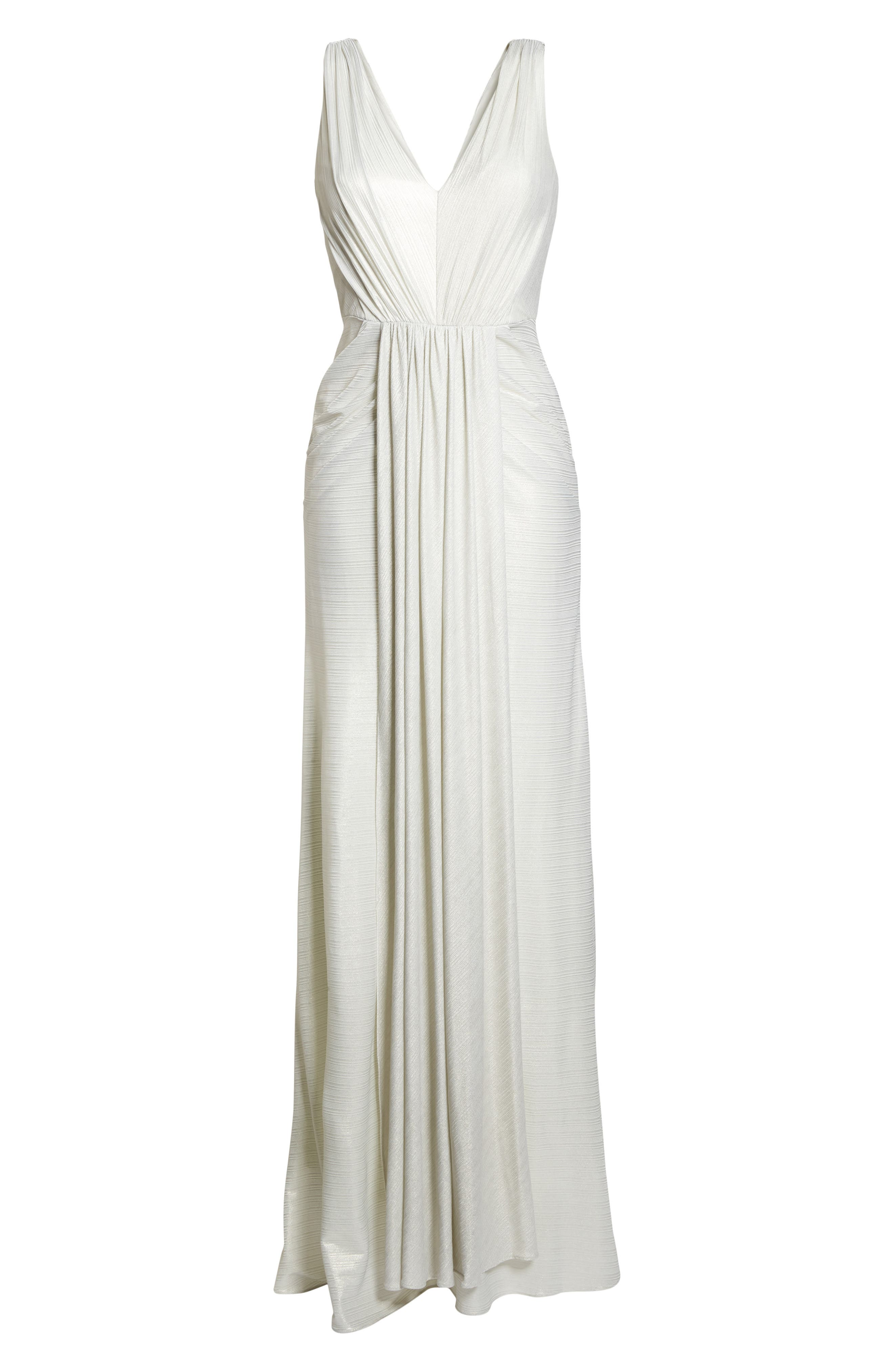 Ruched Gown,                             Alternate thumbnail 6, color,                             900