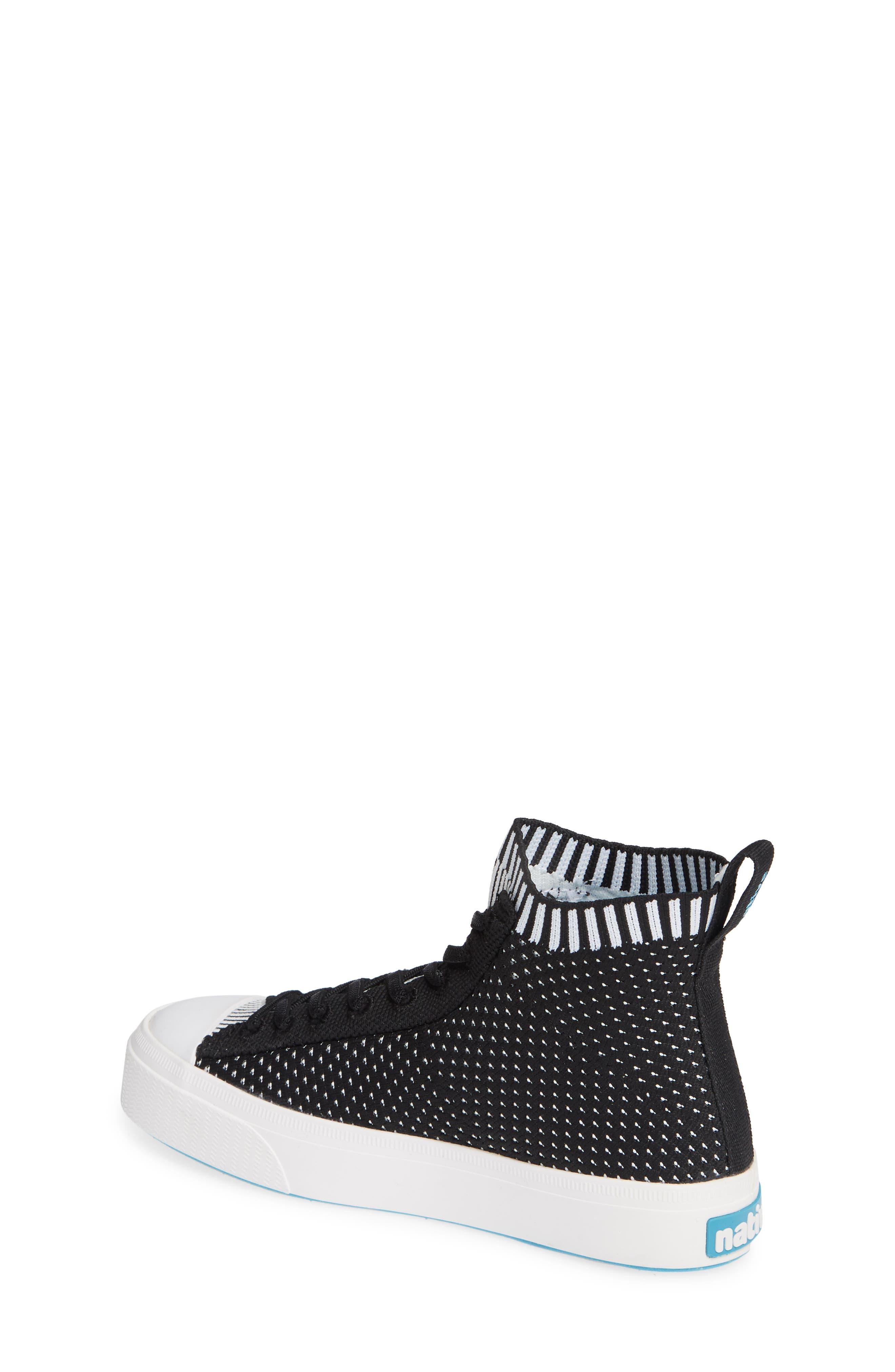 Jefferson 2.0 LiteKnit Vegan High Top Sneaker,                             Alternate thumbnail 2, color,                             JIFFY BLACK/ SHELL WHITE