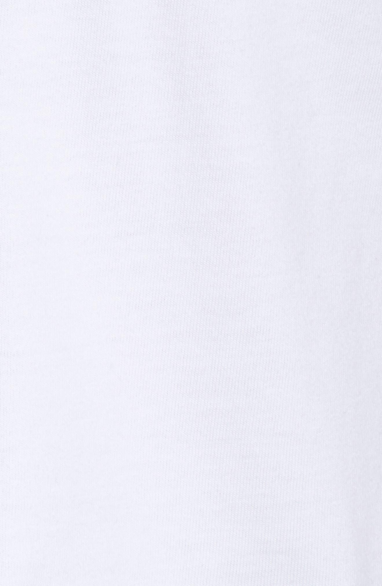 NikeLab Collection Crop Tee,                             Alternate thumbnail 6, color,                             WHITE/ BLACK