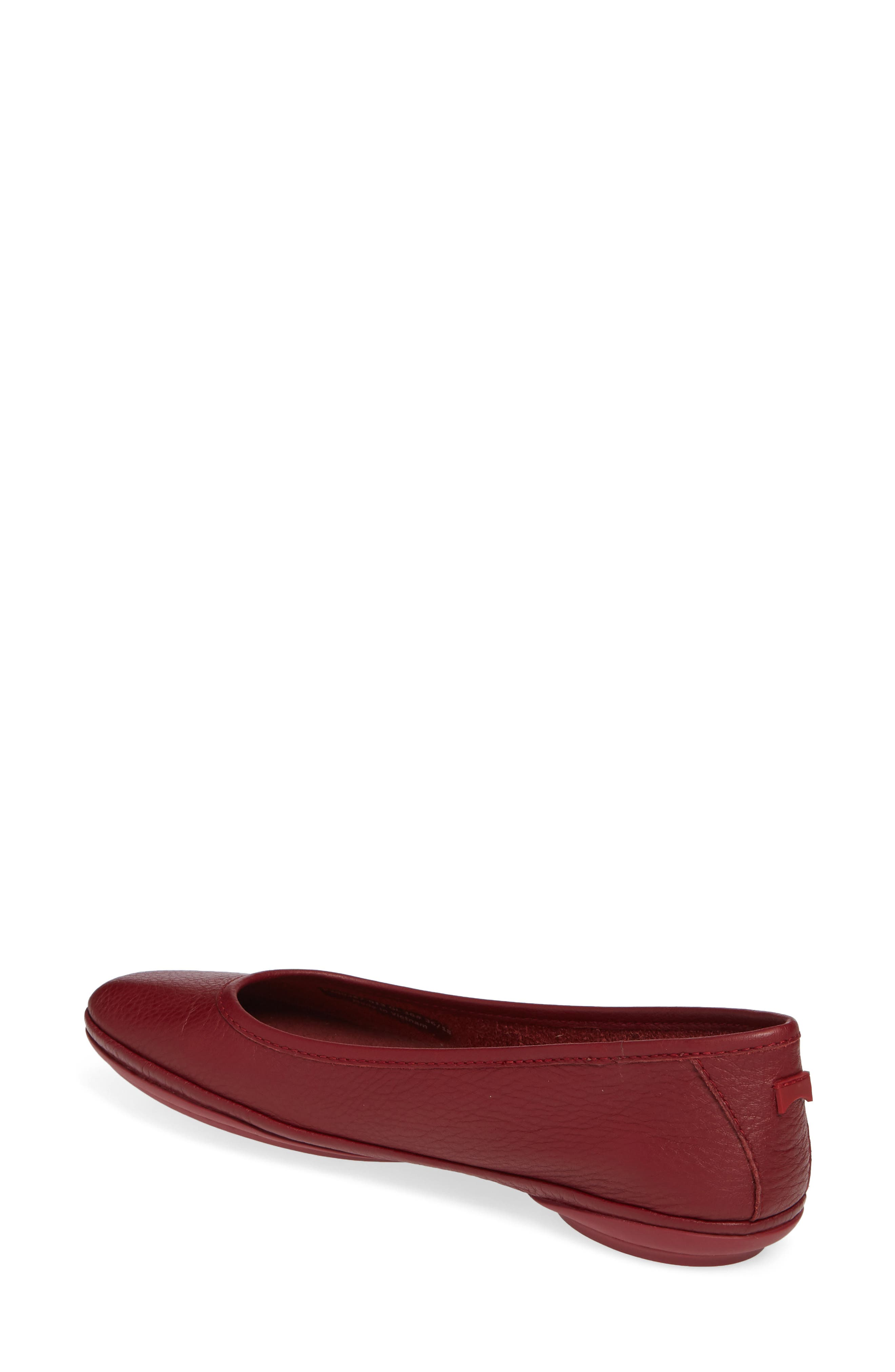 Right Nina Ballet Flat,                             Alternate thumbnail 2, color,                             RED LEATHER