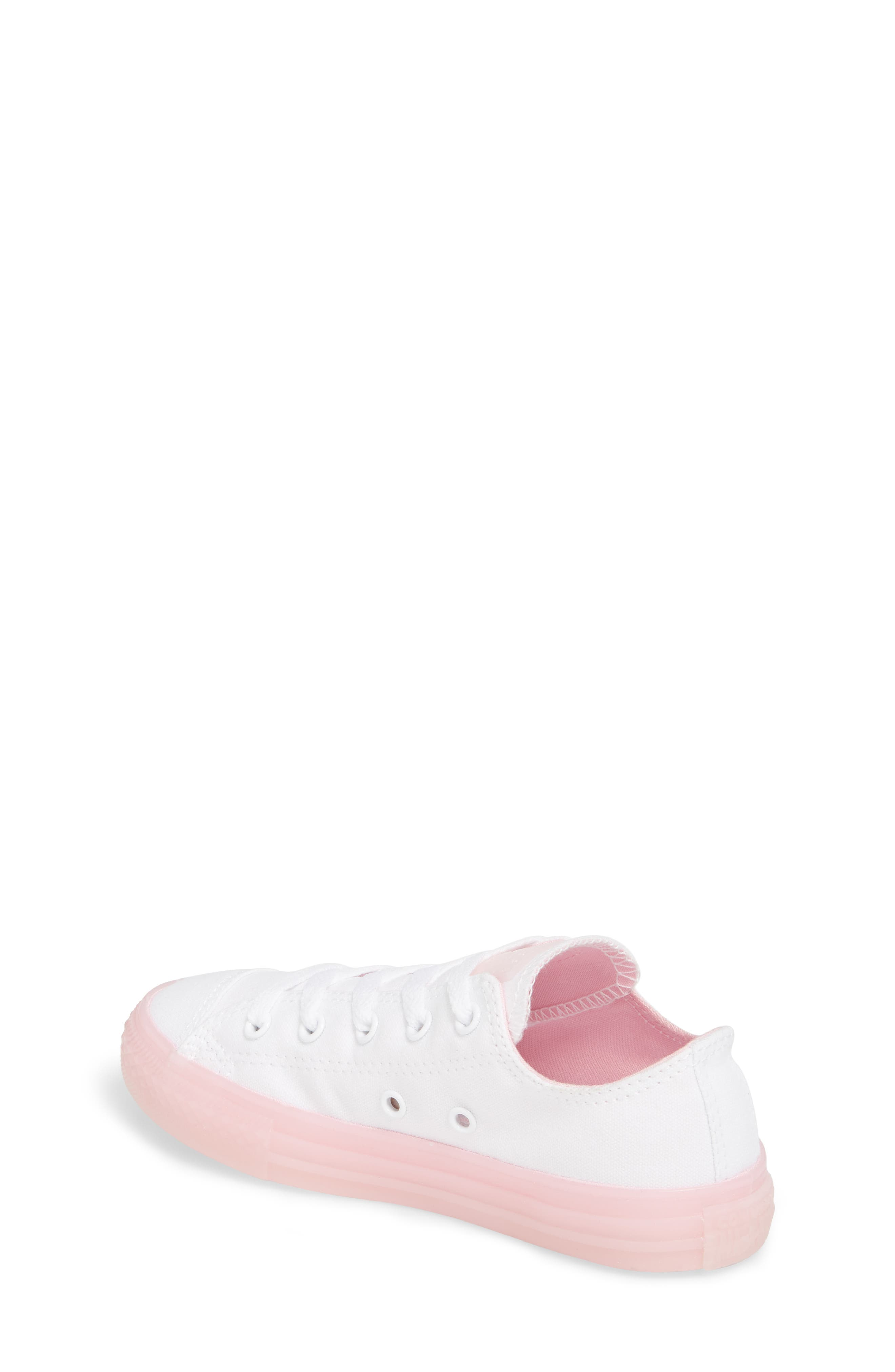 Chuck Taylor<sup>®</sup> All Star<sup>®</sup> Jelly Low Top Sneaker,                             Alternate thumbnail 2, color,                             WHITE/ CHERRY