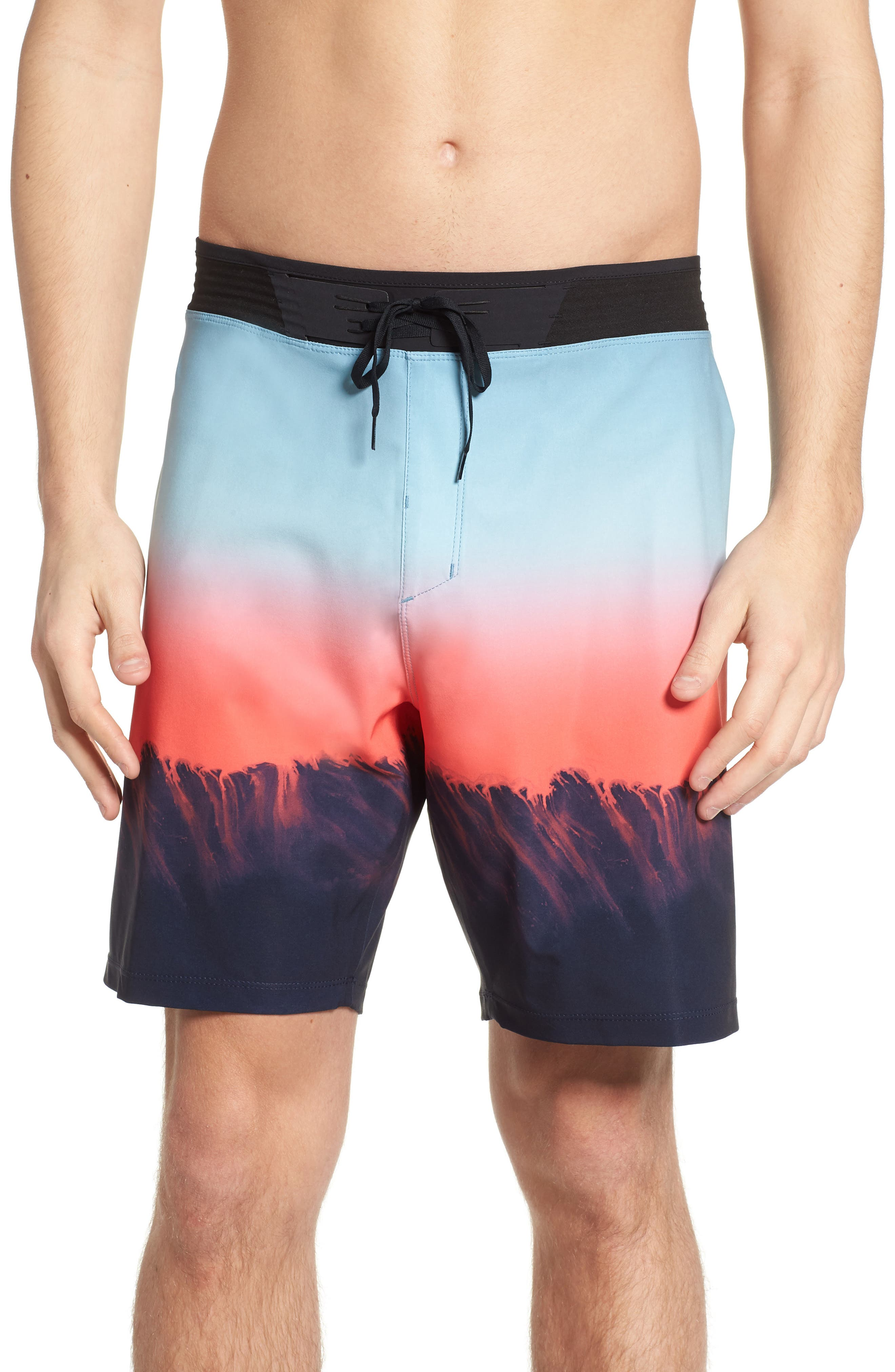 Phantom Hyperweave 3.0 Estuary Board Shorts,                             Main thumbnail 1, color,                             OBSIDIAN