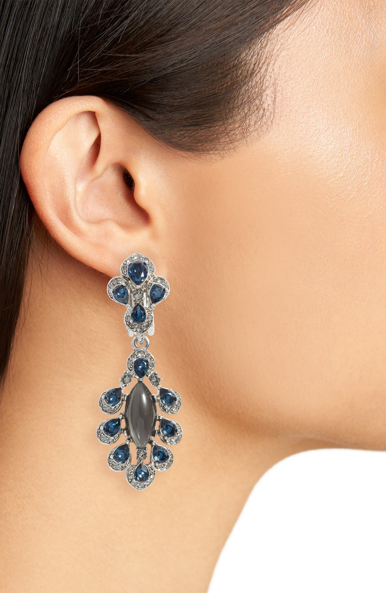 Parlor Crystal Earrings,                             Alternate thumbnail 2, color,                             400
