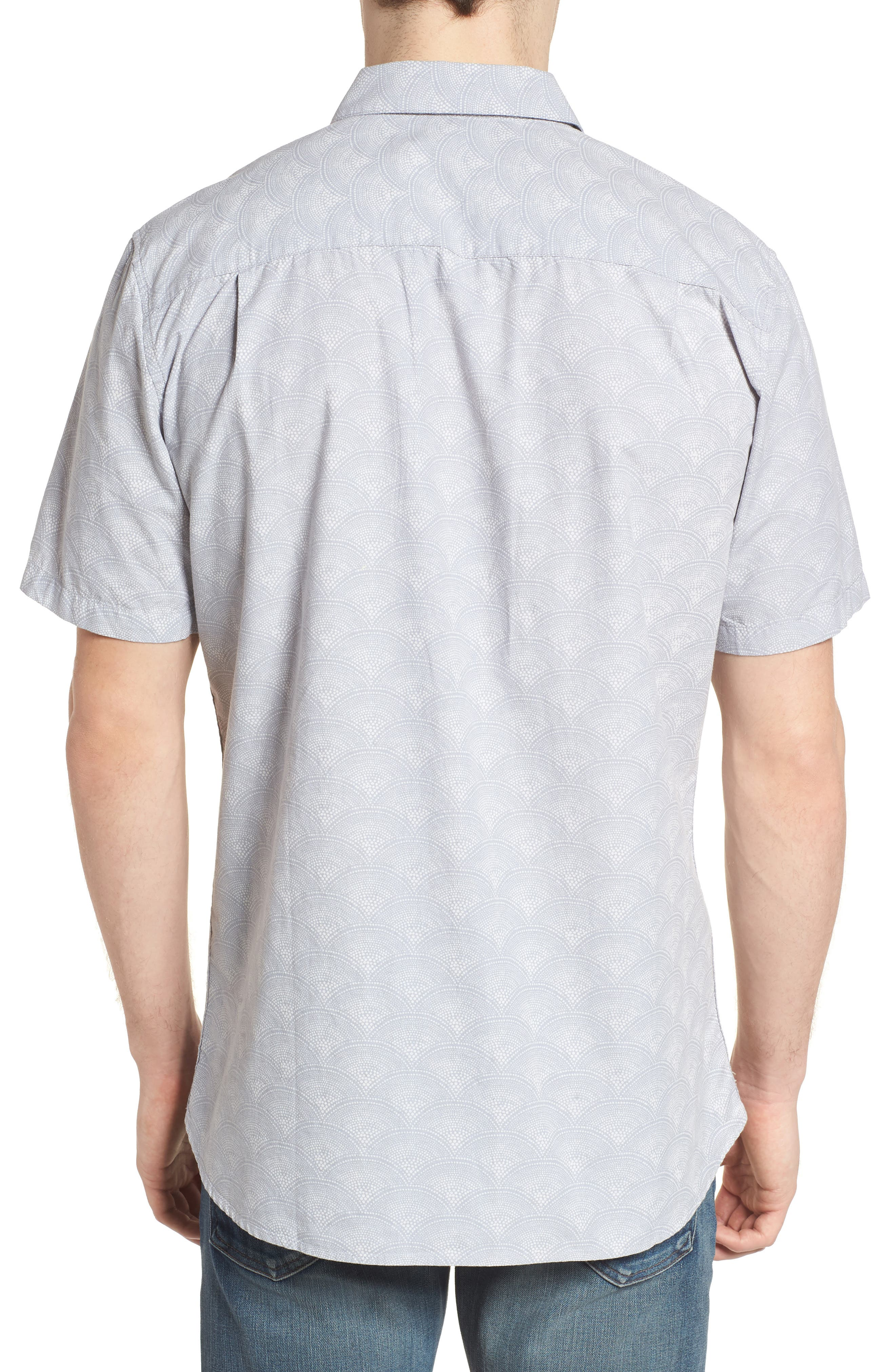 Pescado Short Sleeve Oxford Shirt,                             Alternate thumbnail 2, color,                             LIGHT PUMICE