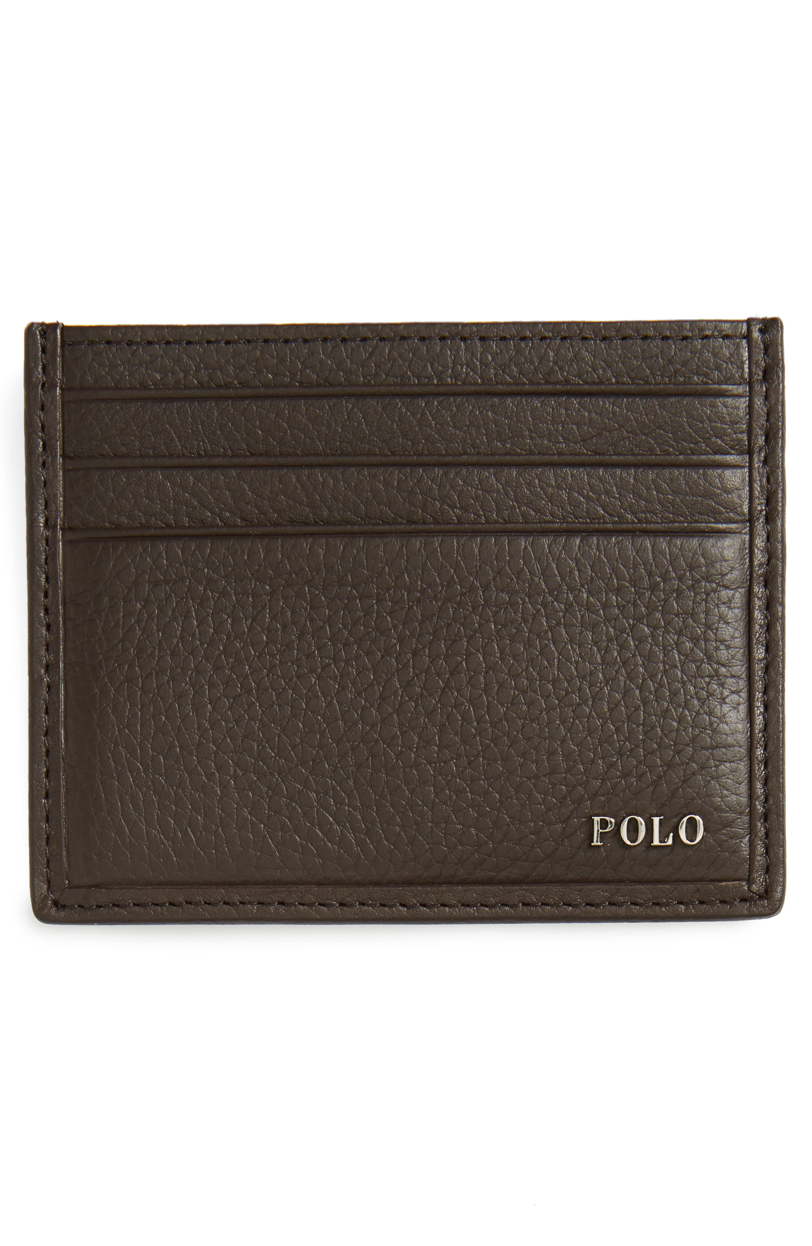 Leather Card Case,                             Alternate thumbnail 6, color,