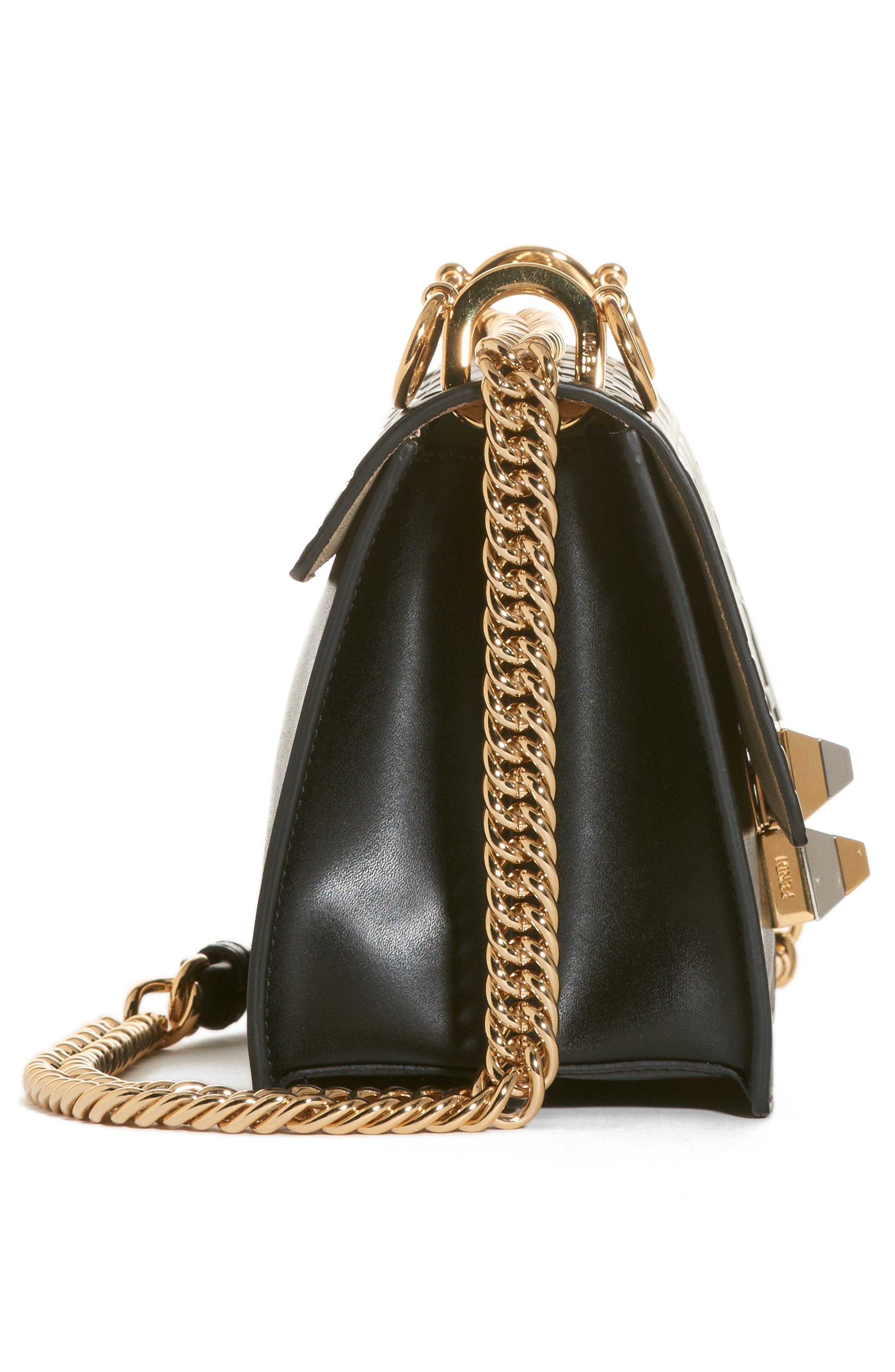 Small Kan I Liberty Leather Shoulder Bag,                             Alternate thumbnail 4, color,                             006