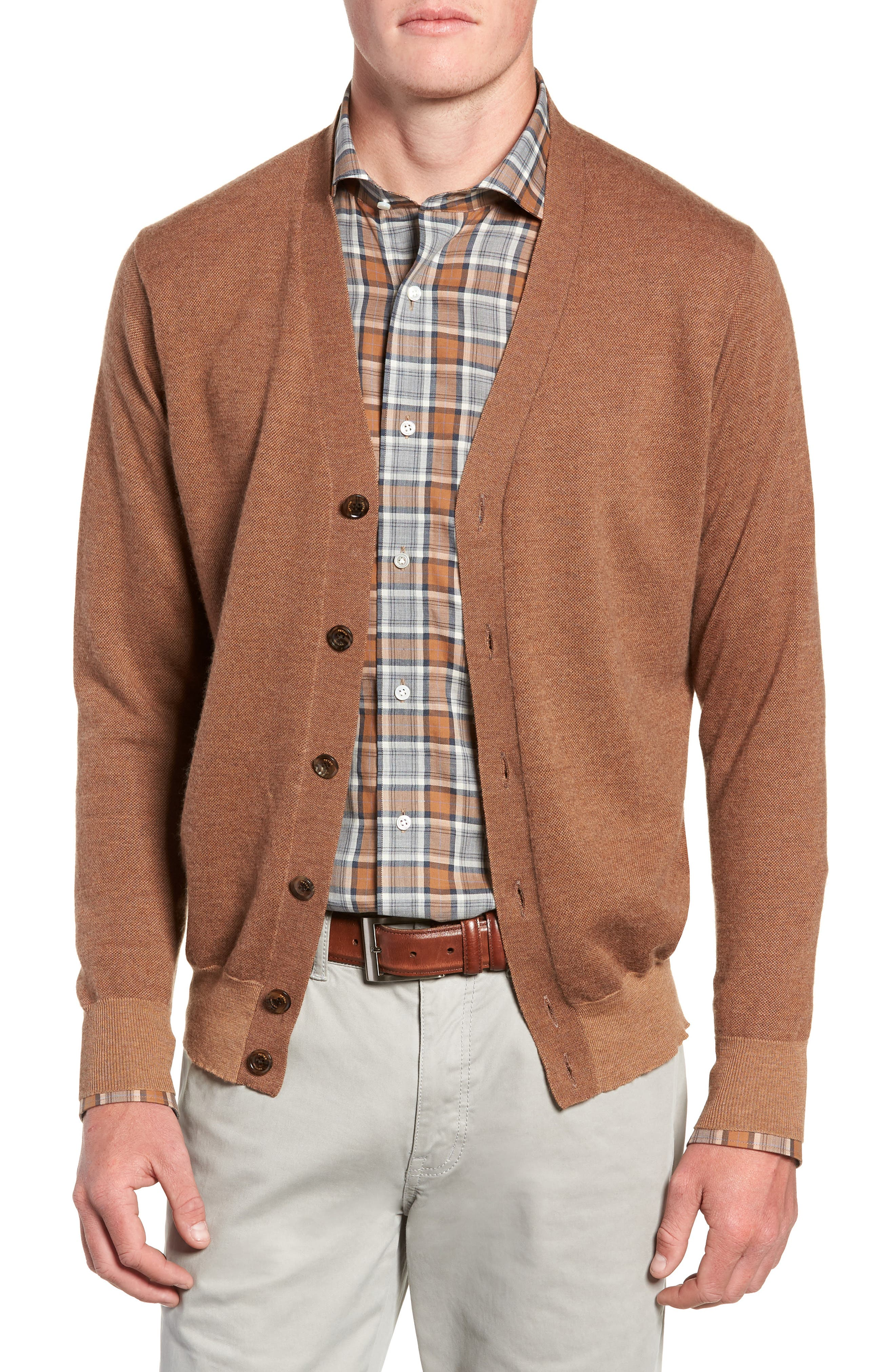 English Manor Cardigan,                             Main thumbnail 1, color,                             VICUNA