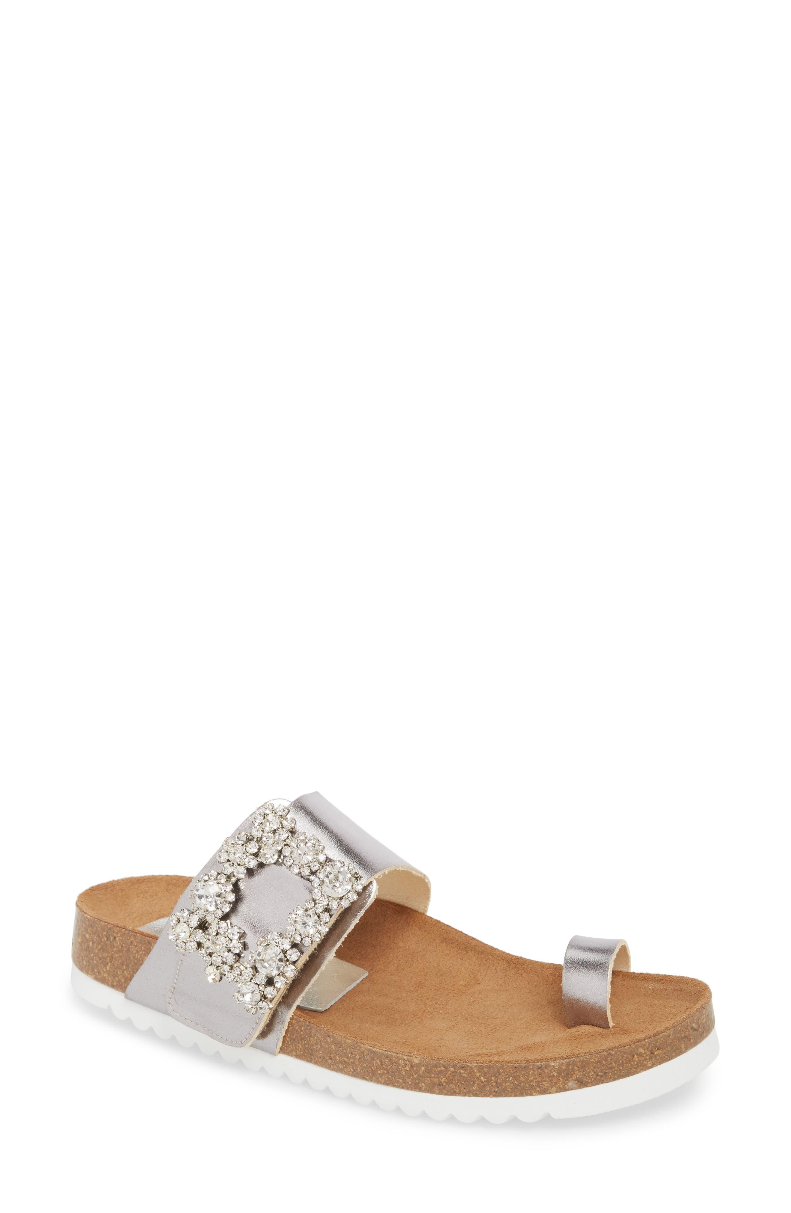 Bianca Embellished Slide Sandal,                         Main,                         color, 048