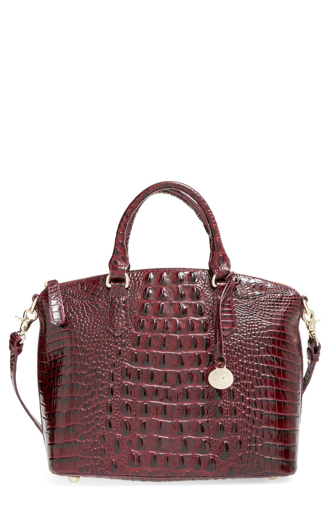 'Medium Duxbury' Croc Embossed Leather Satchel,                             Main thumbnail 19, color,