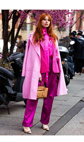 Spotted at FW20 Milan Fashion Week: haute pink.