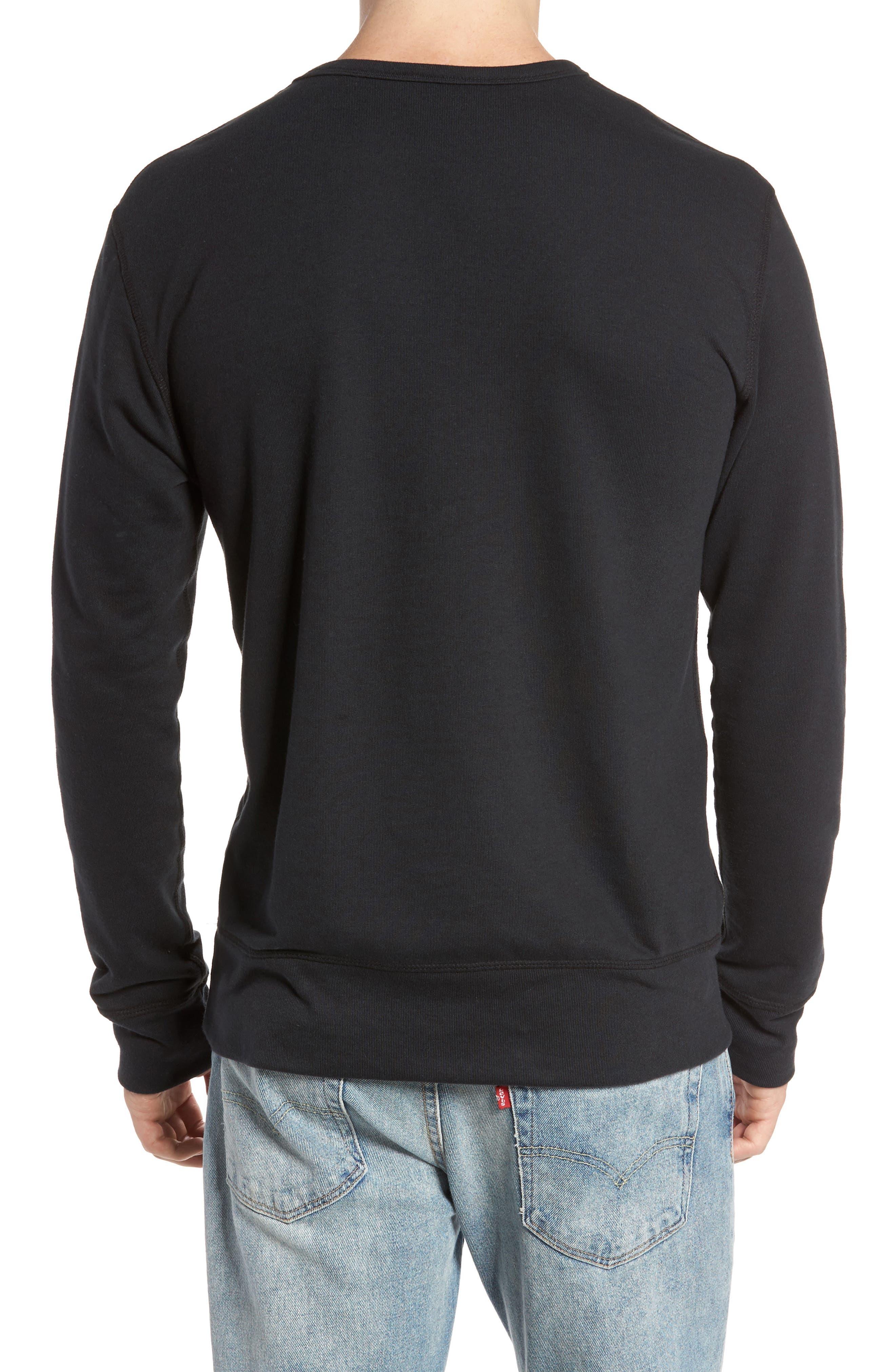B-Side Reversible Crewneck Sweatshirt,                             Alternate thumbnail 2, color,                             001