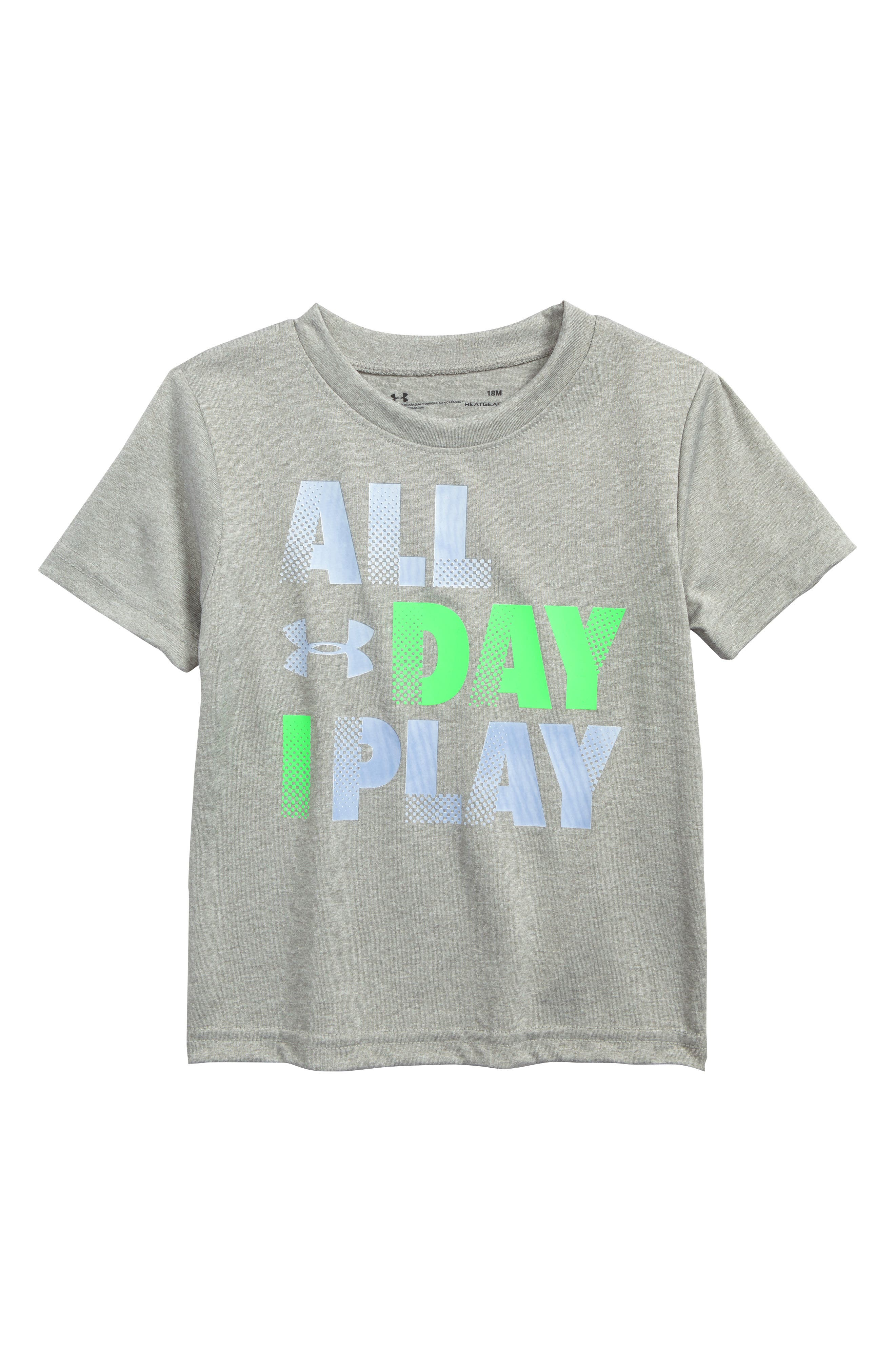 All Day I Play Graphic HeatGear<sup>®</sup> T-Shirt,                             Alternate thumbnail 2, color,                             022
