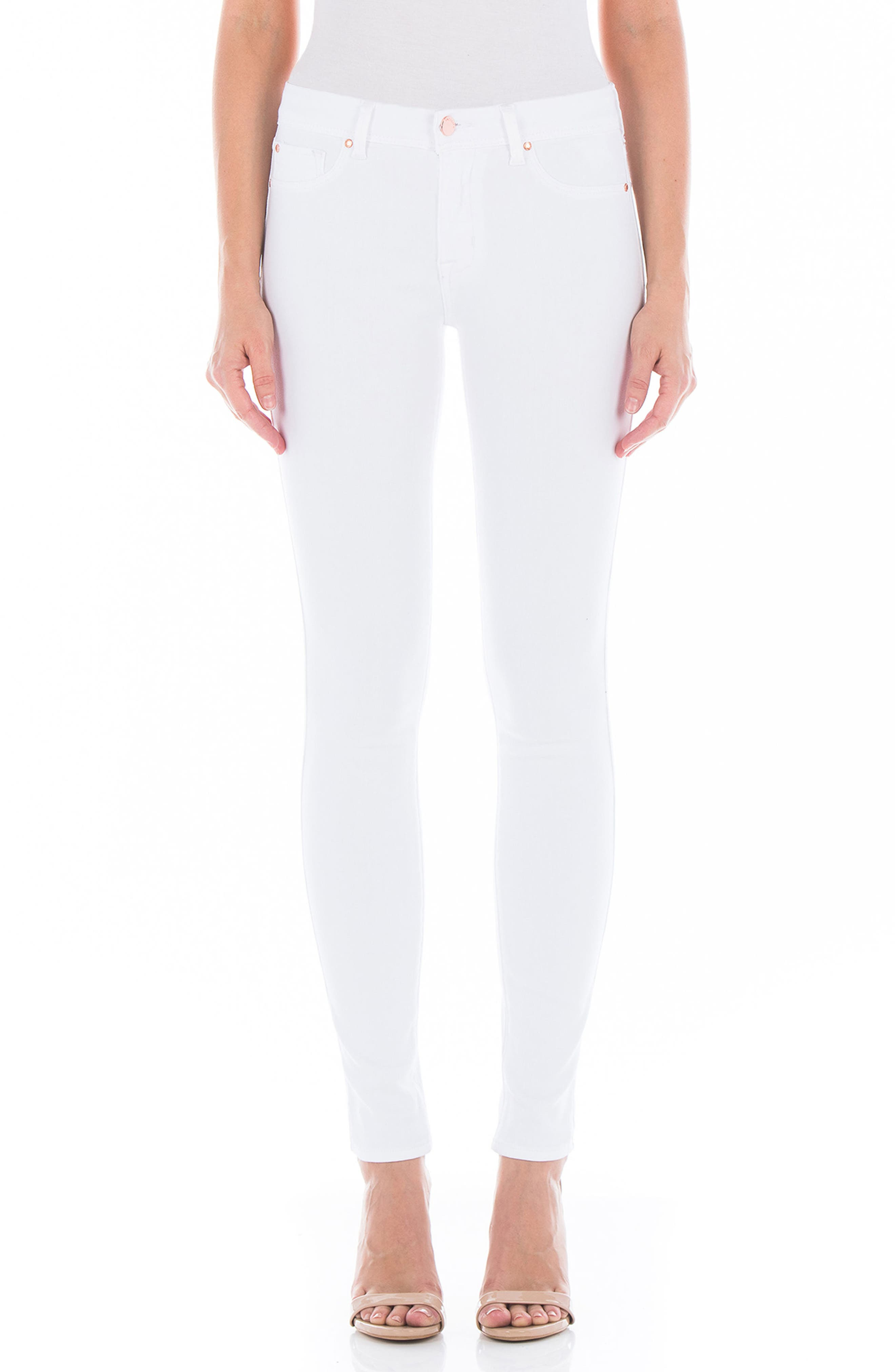 Belvedere Skinny Jeans,                             Main thumbnail 1, color,                             WHITE
