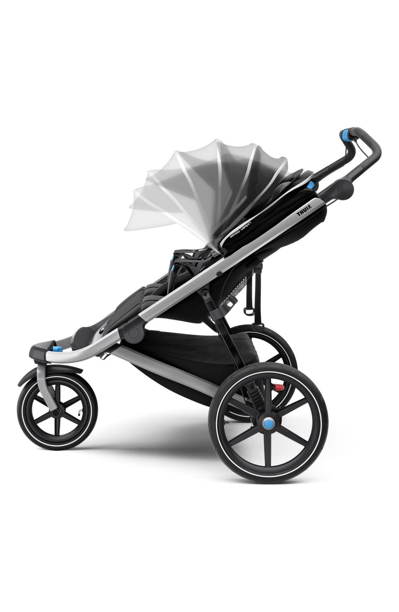 Urban Glide 2 Double Jogging Stroller,                             Alternate thumbnail 2, color,                             BLACK/ SILVER FRAME