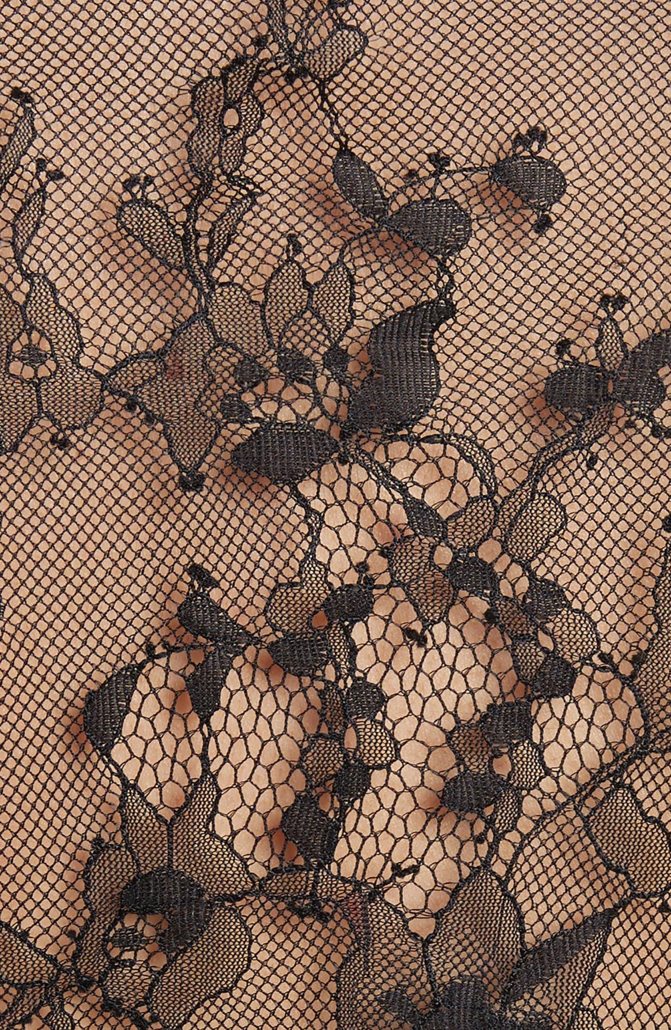 Paneled Lace Top,                             Alternate thumbnail 5, color,                             001