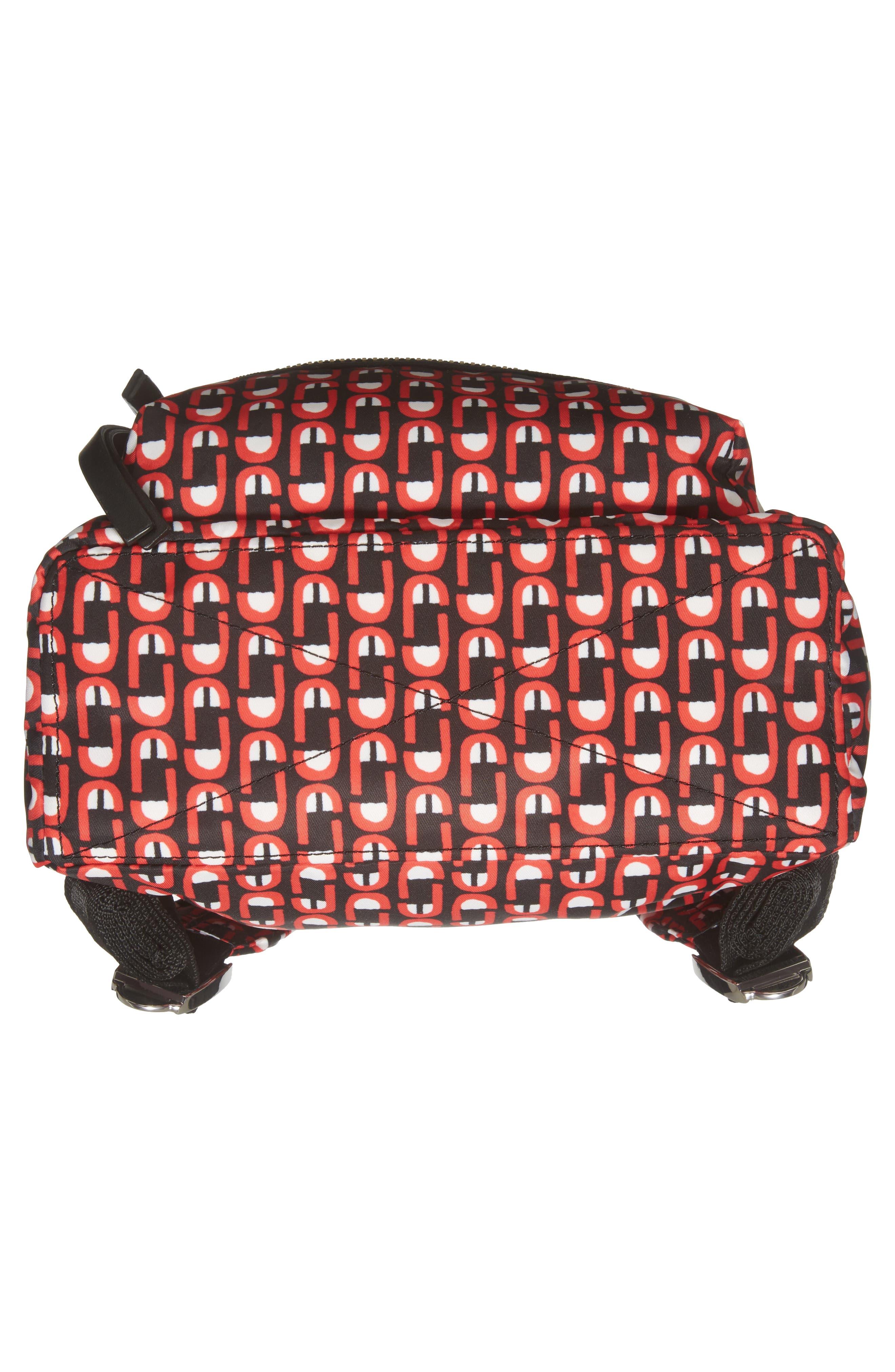 Logo Scream Mini Biker Backpack,                             Alternate thumbnail 6, color,                             601
