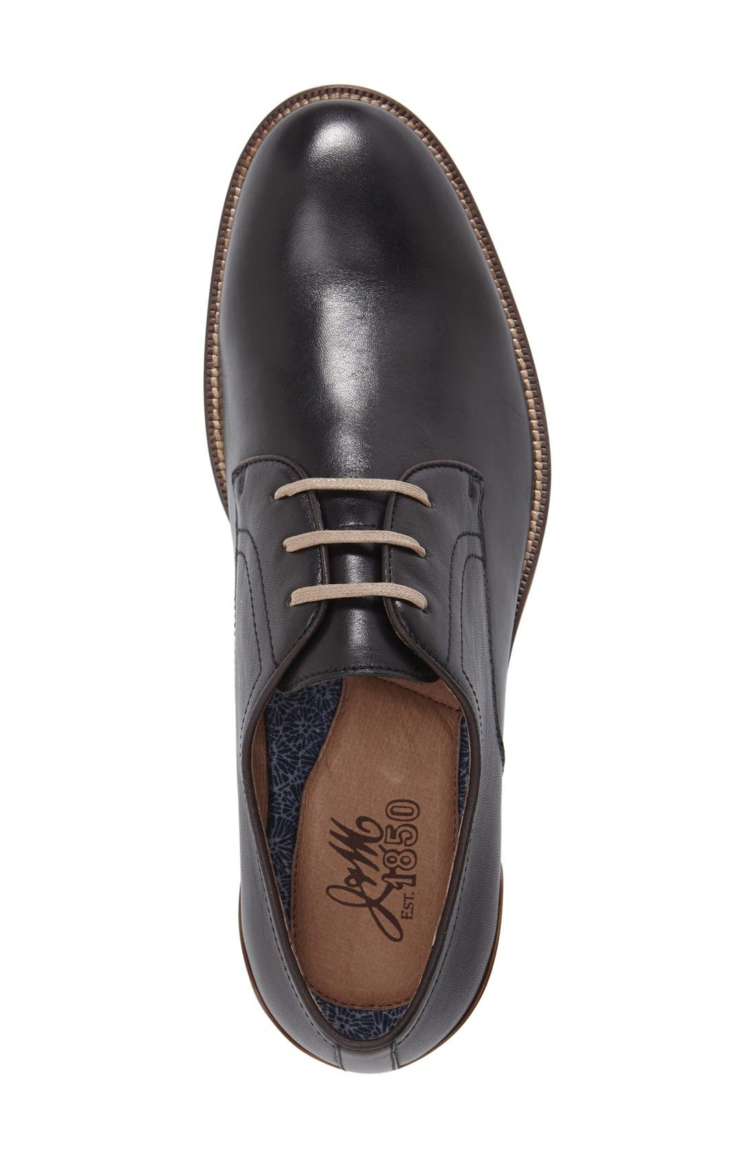 'Grayson' Plain Toe Derby,                             Alternate thumbnail 3, color,                             001