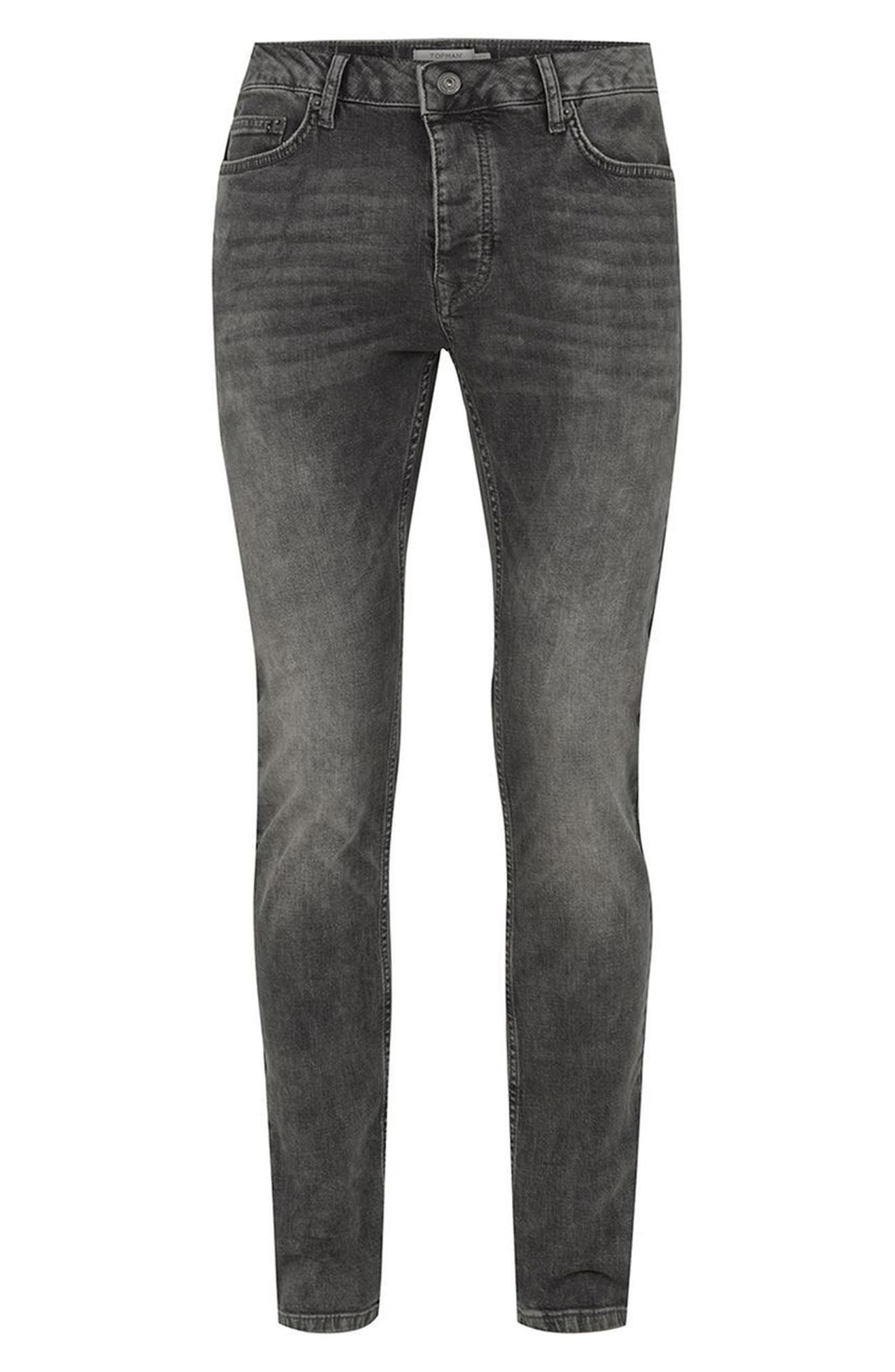 Grey Stretch Skinny Jeans,                             Alternate thumbnail 4, color,                             020